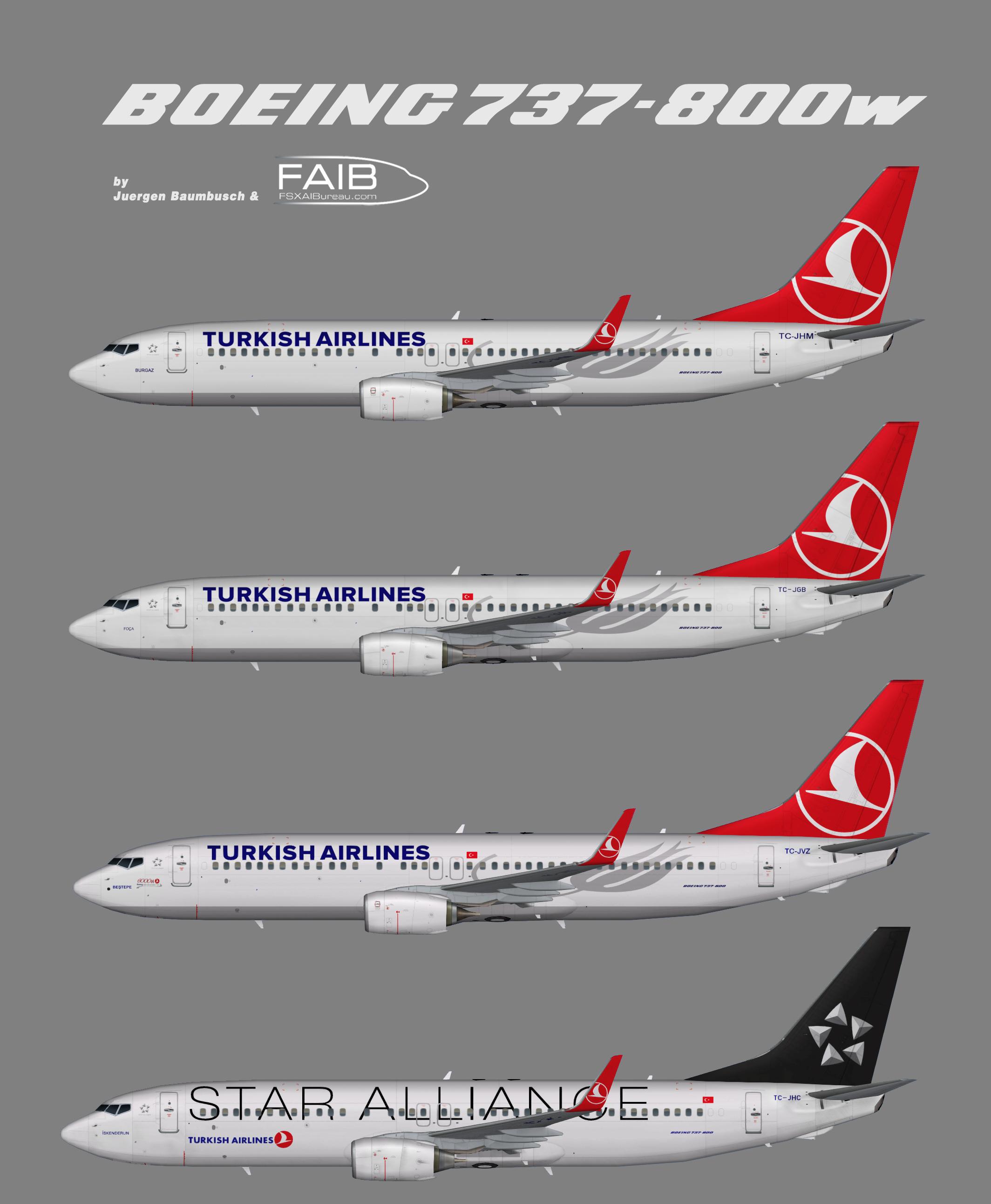 Turkish Airlines Boeing 737-800w