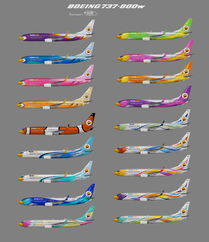 Nok Air Air Boeing 737-800w