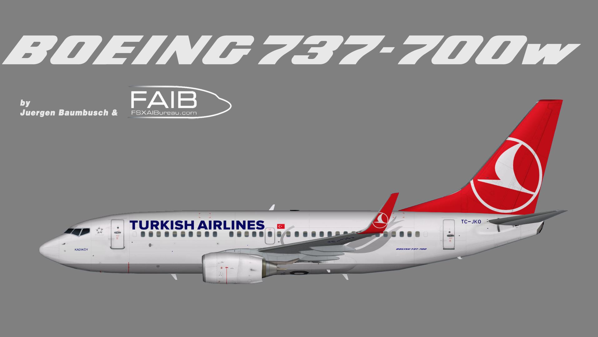 Turkish Airlines OC Boeing 737-700w