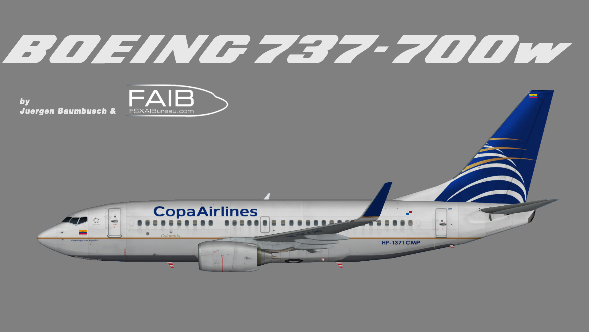 Copa Airlines Colombia Boeing 737-700w