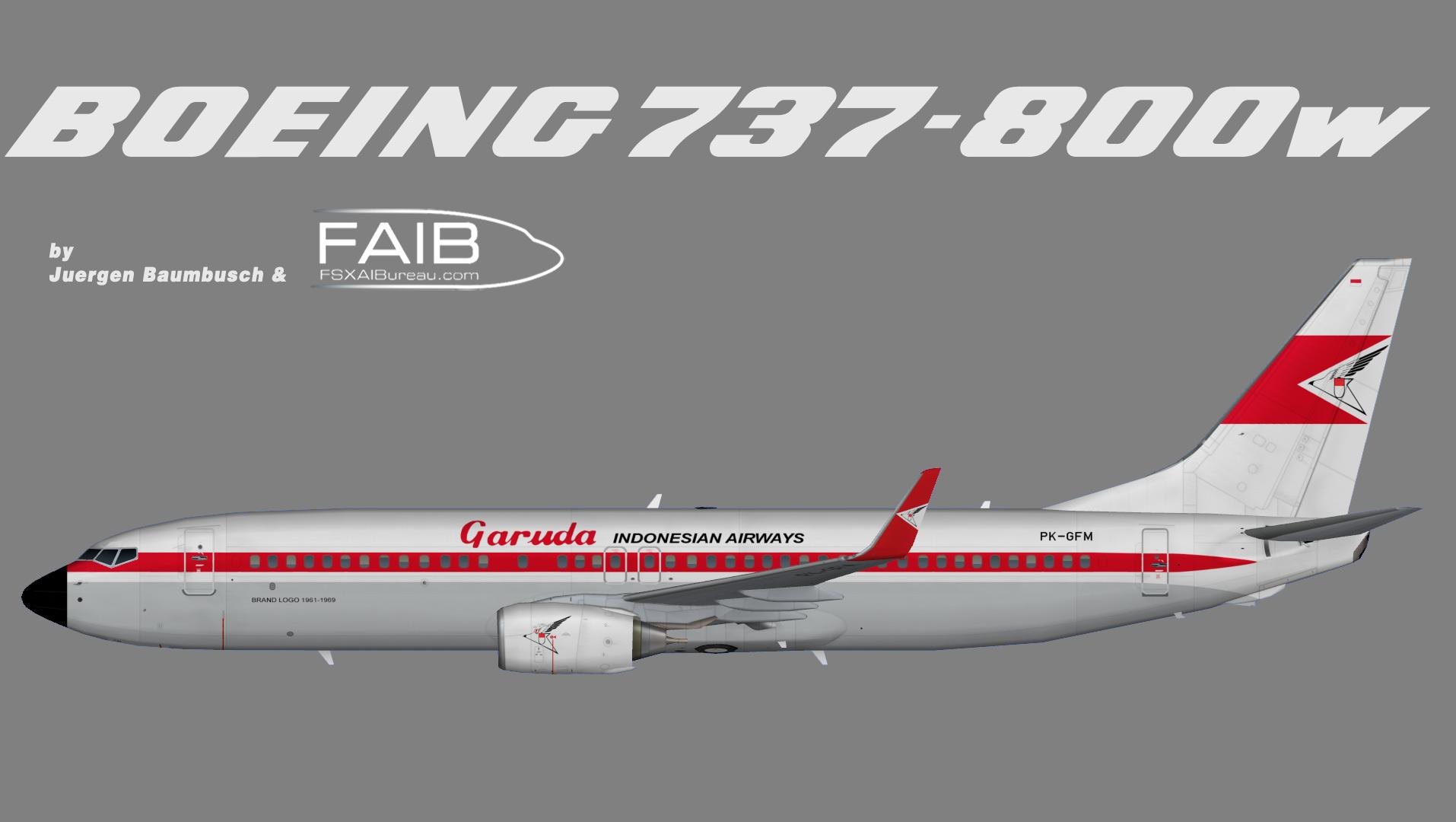 Garuda Indonesia Boeing 737-800w Retro Logojet 1963 – 1969