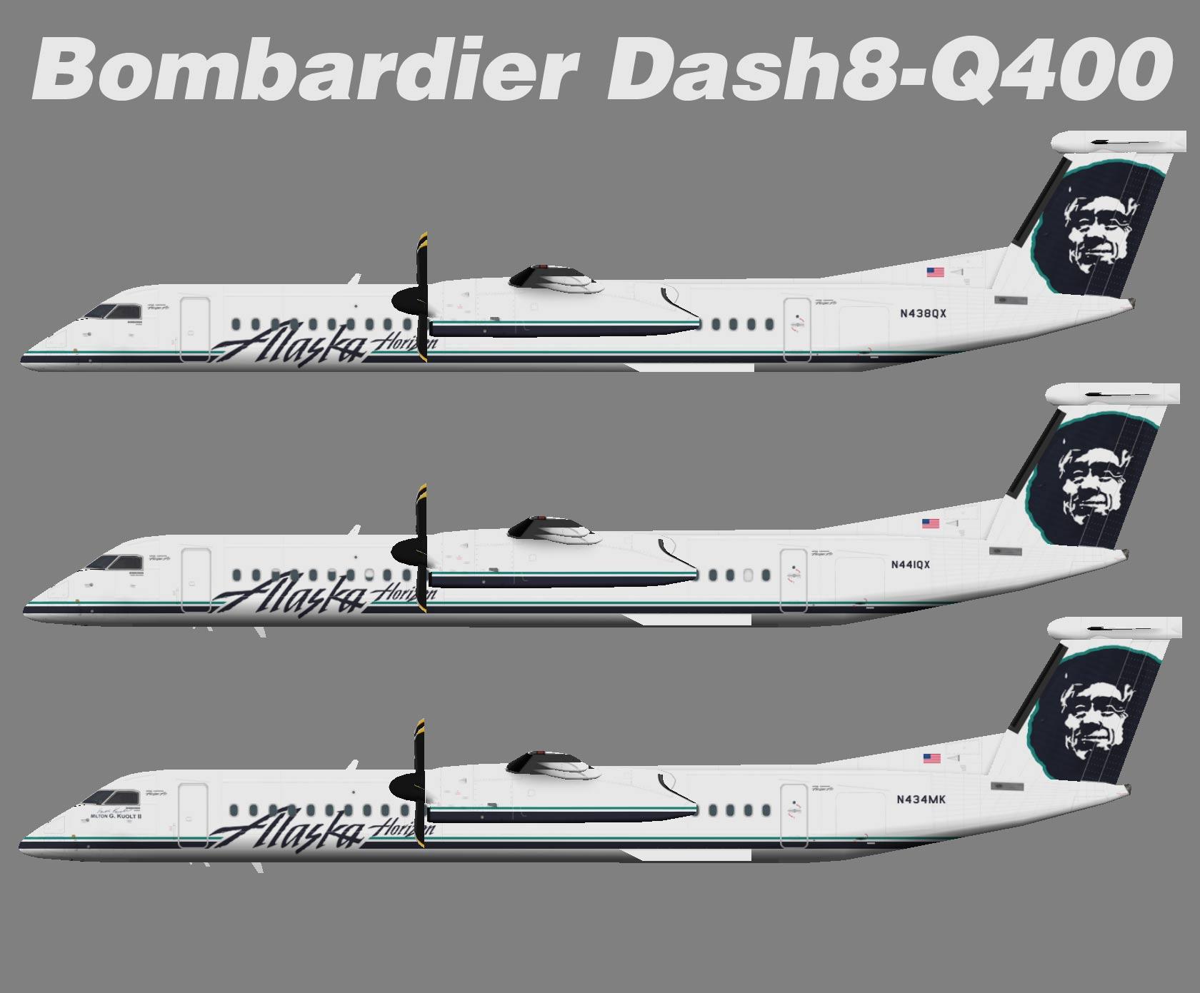 Alaska Horizon Dash8 400 Juergen S Paint Hangar