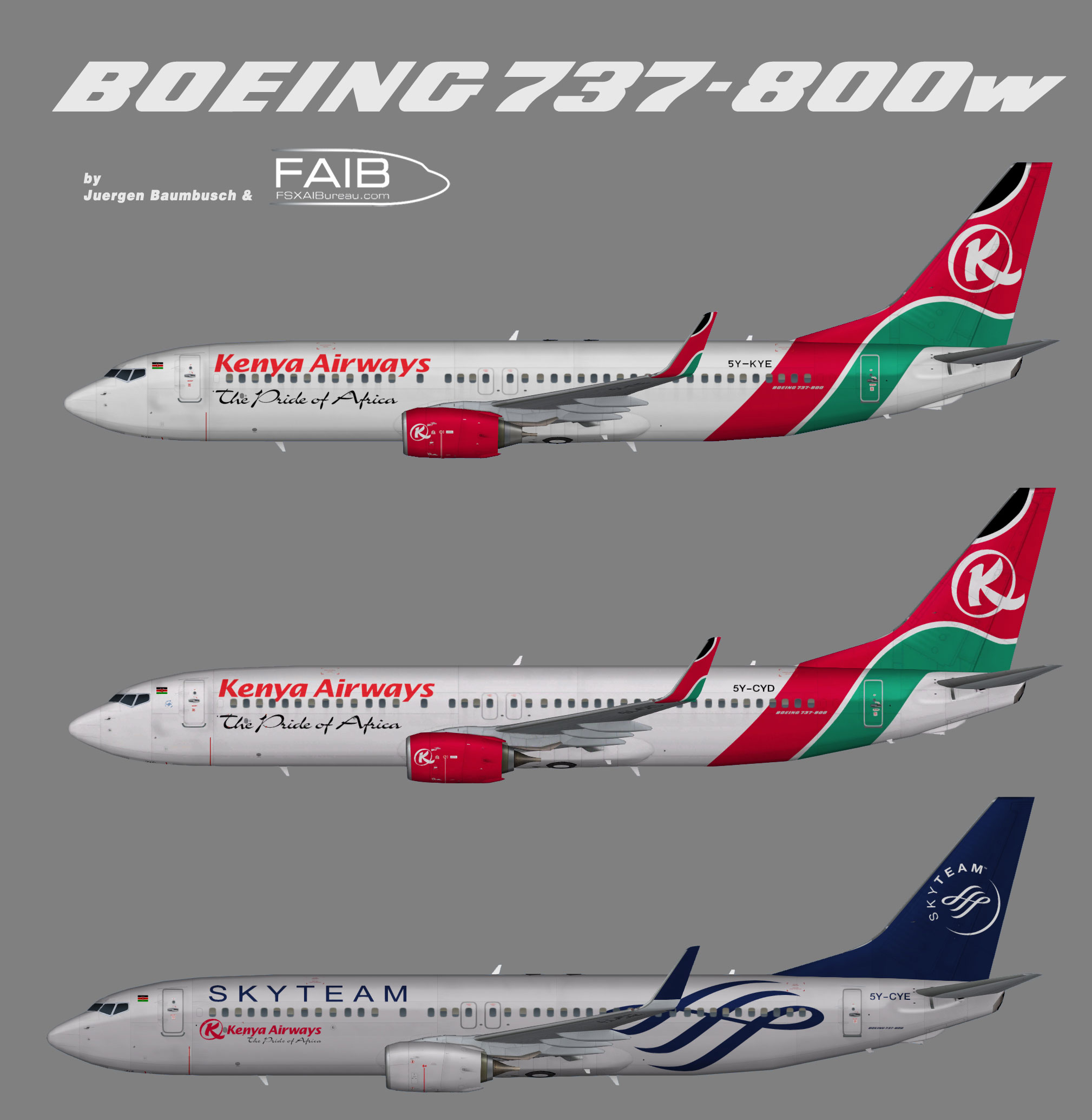 Kenya Airways Boeing 737-800w