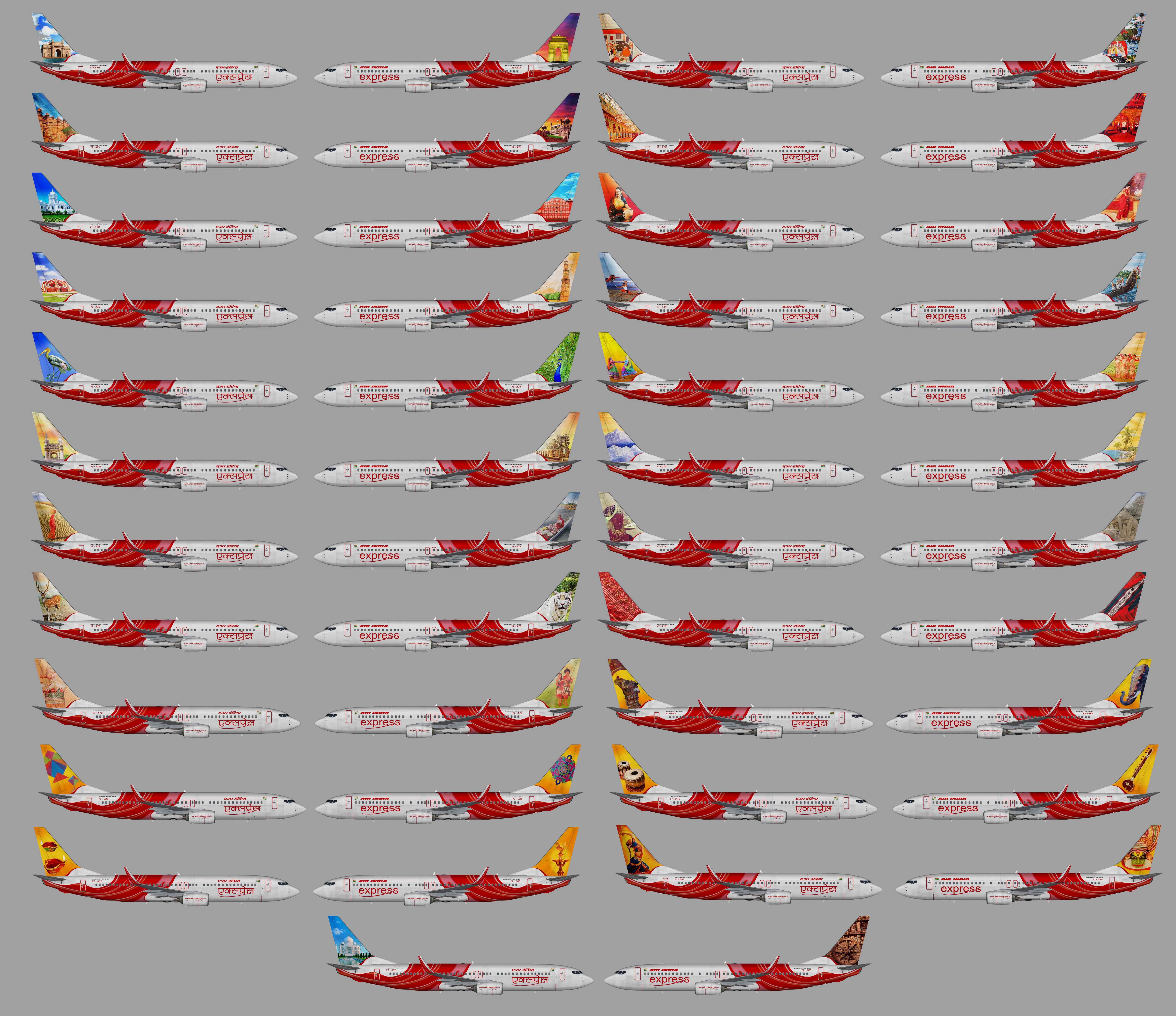 Air India Express Boeing 737-800w (full fleet)