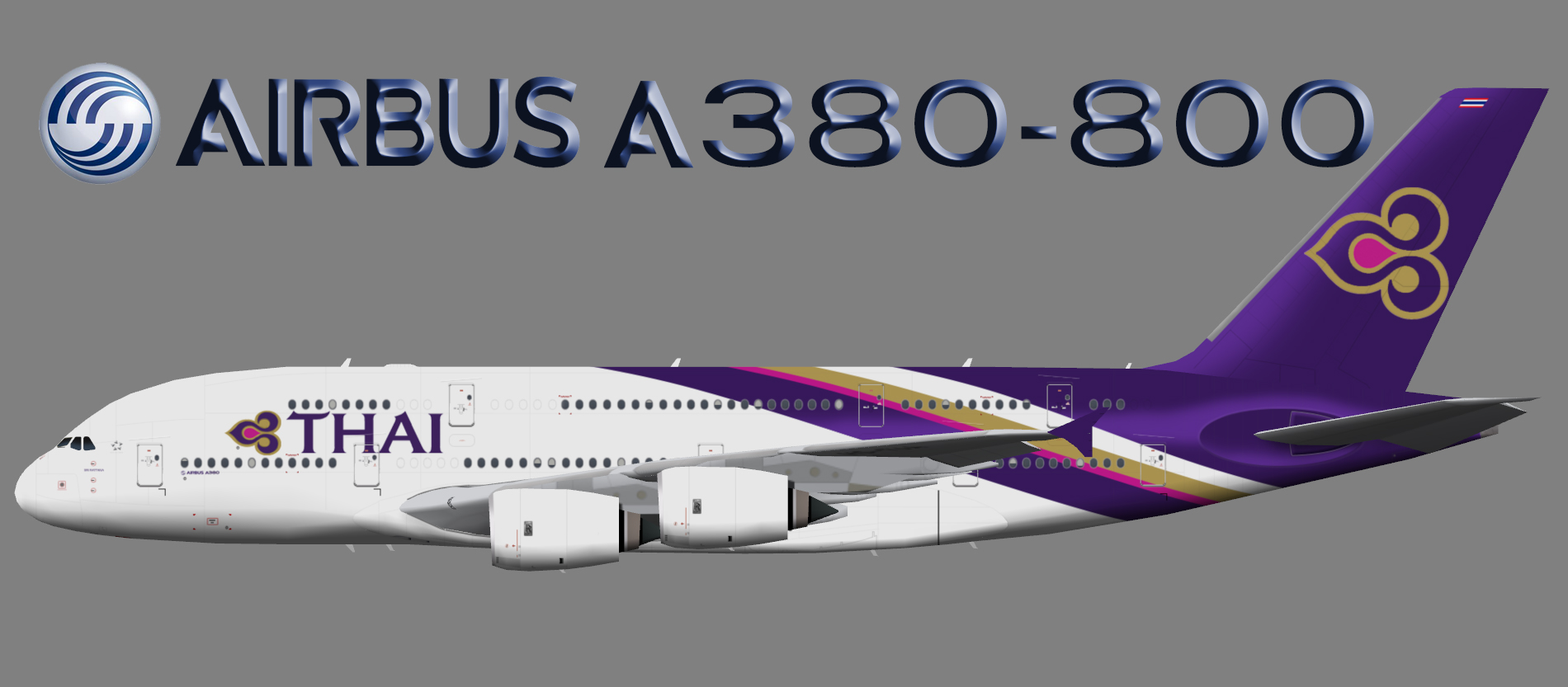 Thai Airways International Airbus A380-800 – Juergen's paint