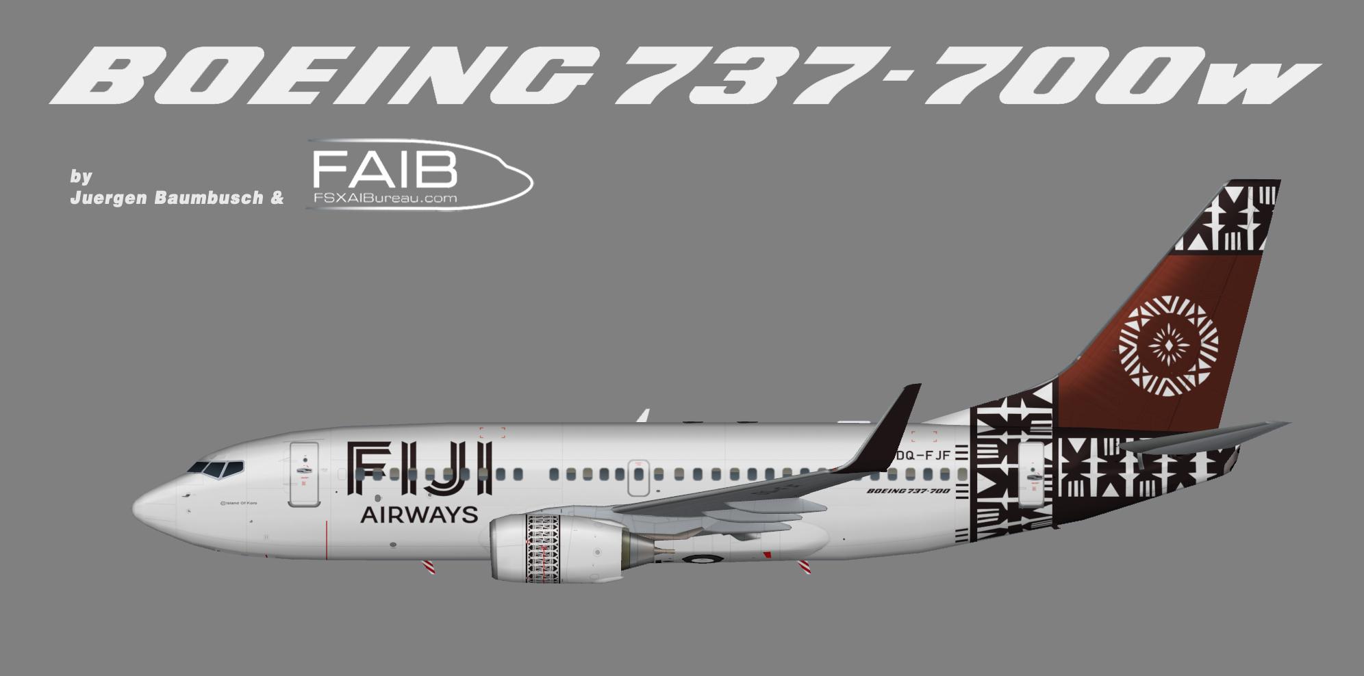 Fiji Airways Boeing 737-700w