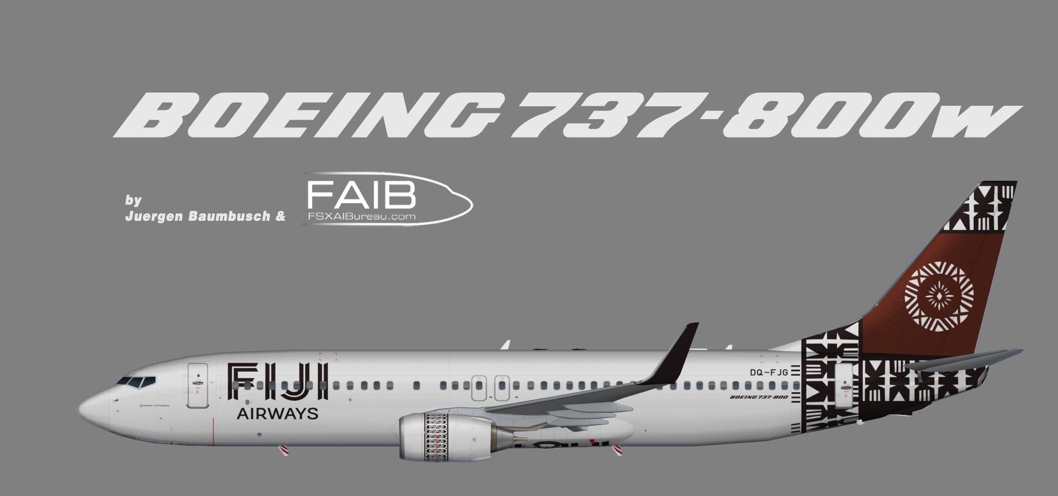 Fiji Airways Boeing 737-800w