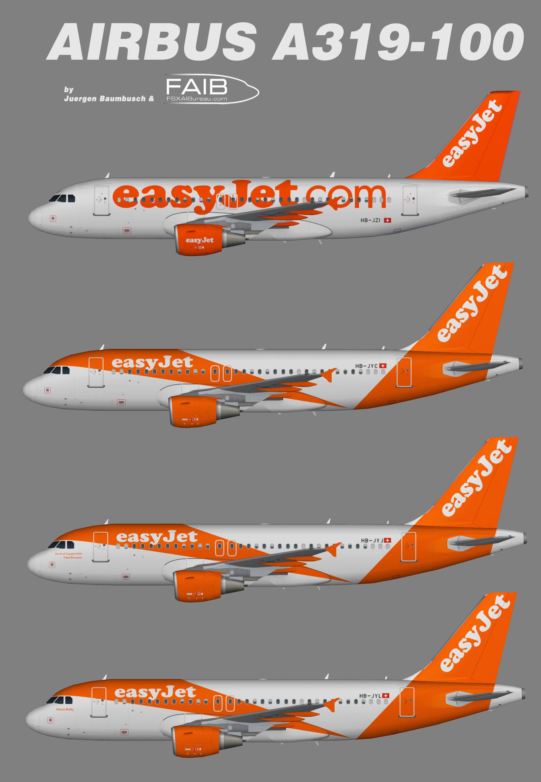 Easyjet Airbus A319 Swiss