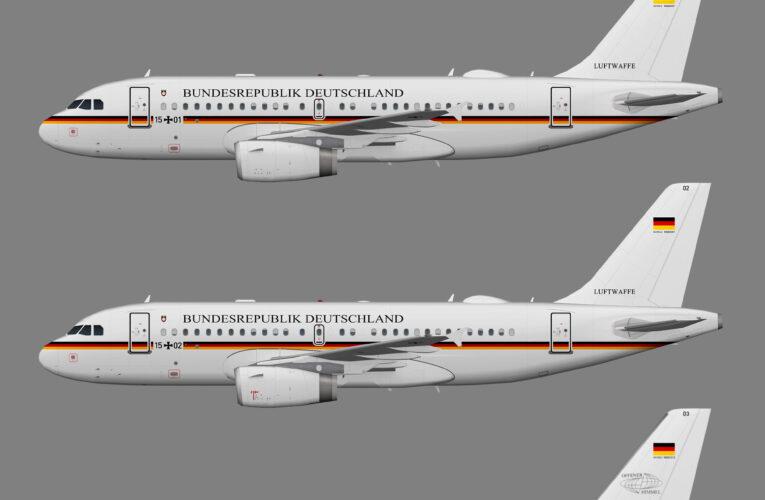 Deutsche Luftwaffe Flugbereitschaft Airbus A319CJ