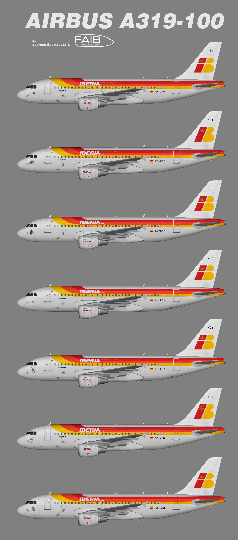 Iberia Airbus A319 100 Animals Juergen S Paint Hangar
