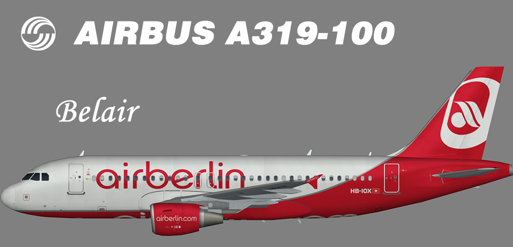 Air Berlin Airbus A319-100 (Belair) – Nils