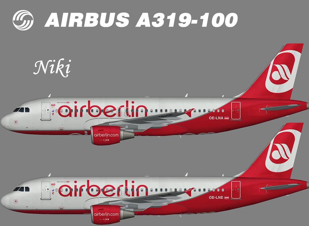 Air Berlin Airbus A319-100 (opb Niki) – Nils