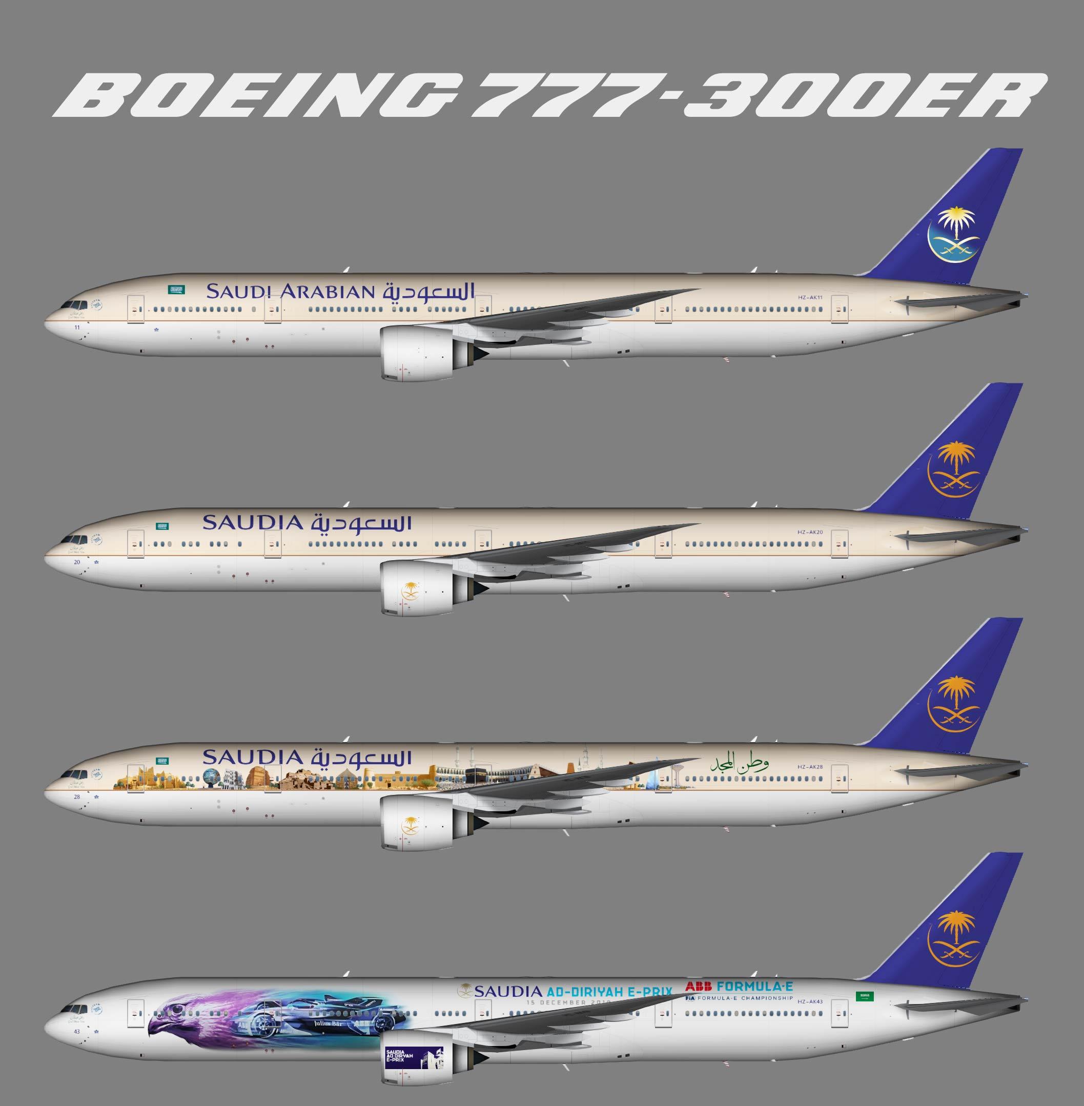 Saudia Boeing 777-300ER – Juergen's paint hangar