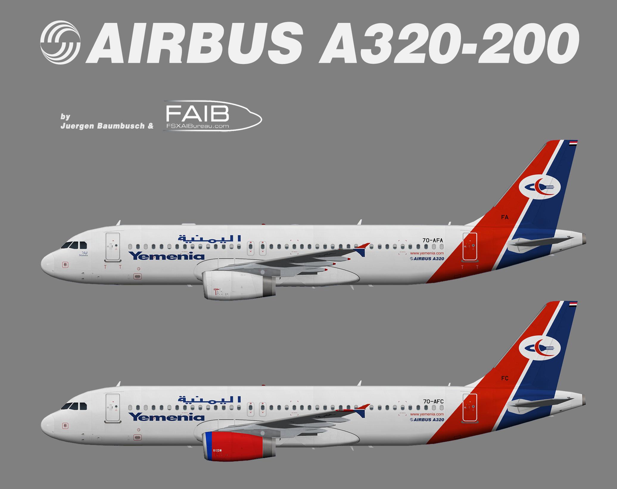 Yemenia Airbus A320-200