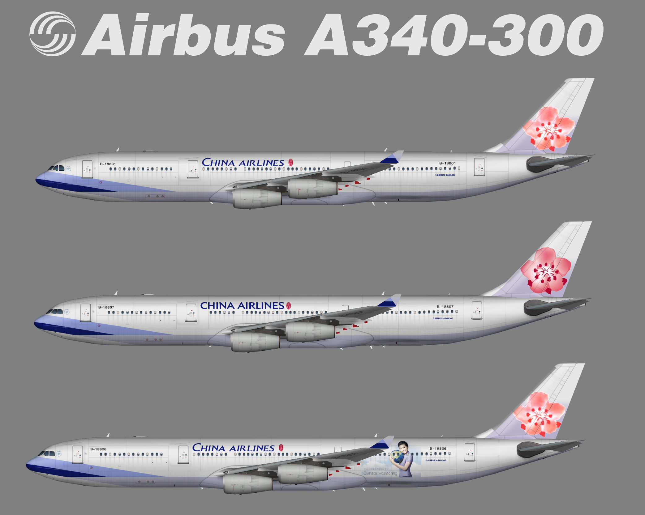 China Airlines Airbus A340 300 Juergen S Paint Hangar