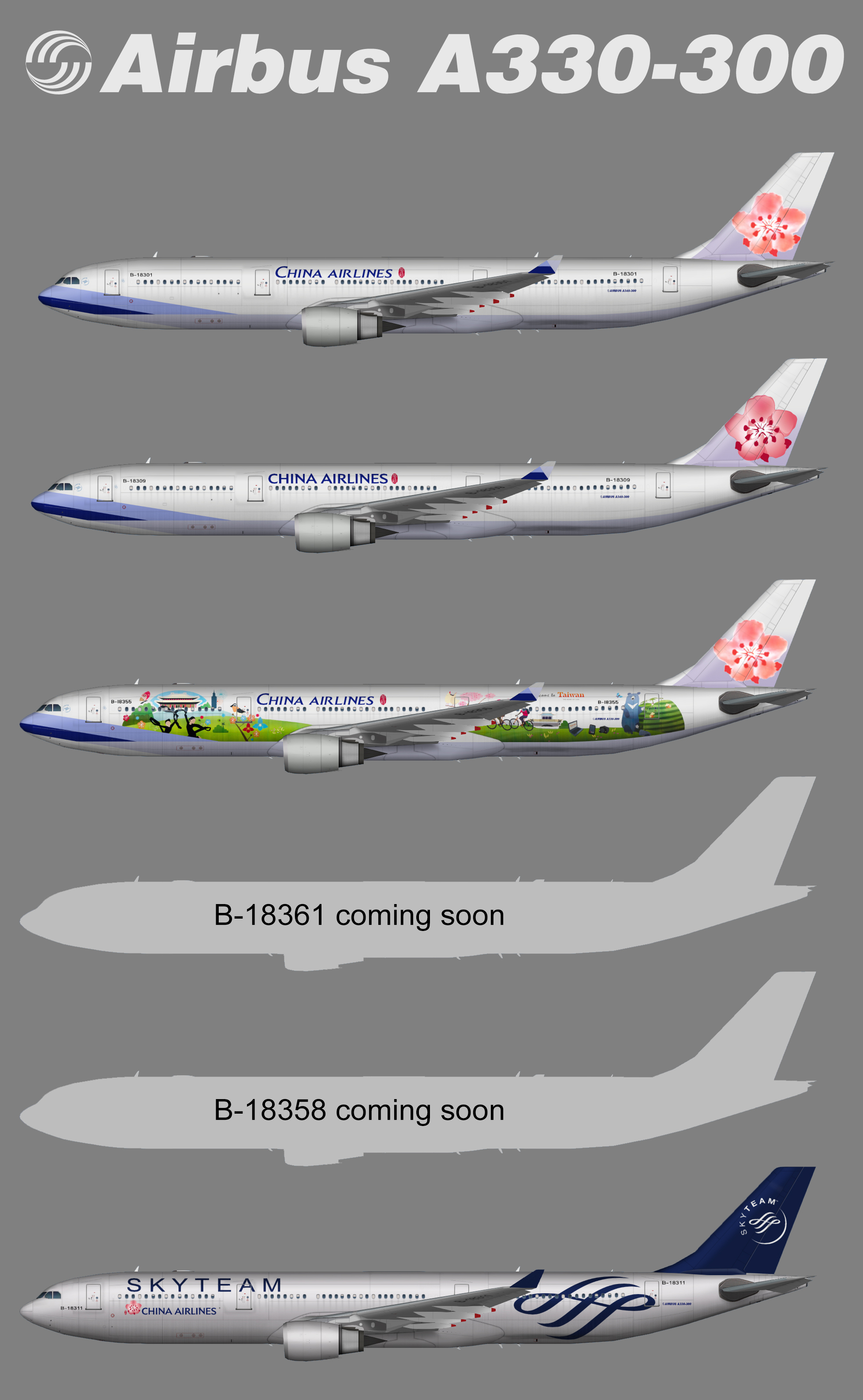 China Airlines Airbus A330-300 – Juergen's paint hangar