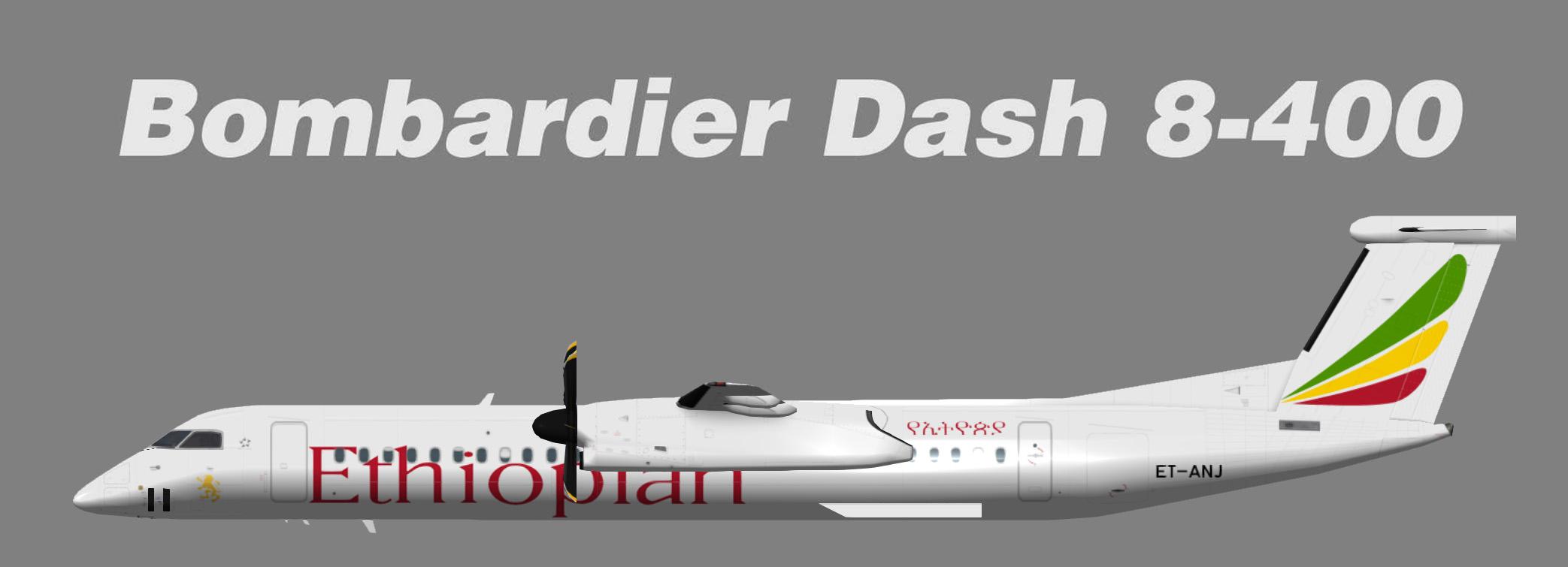 Ethiopian Airlines Bombardier Dash8-400