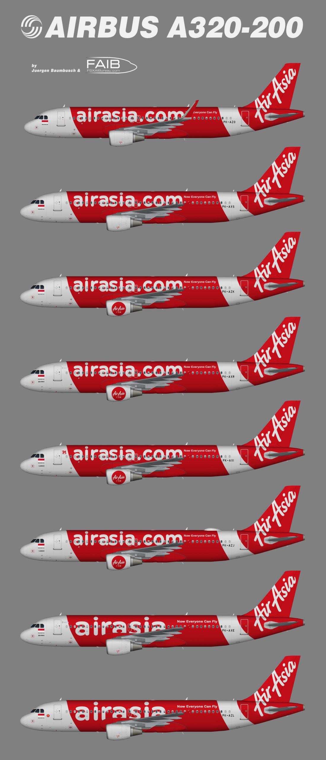 Indonesia AirAsia Airbus A320-200