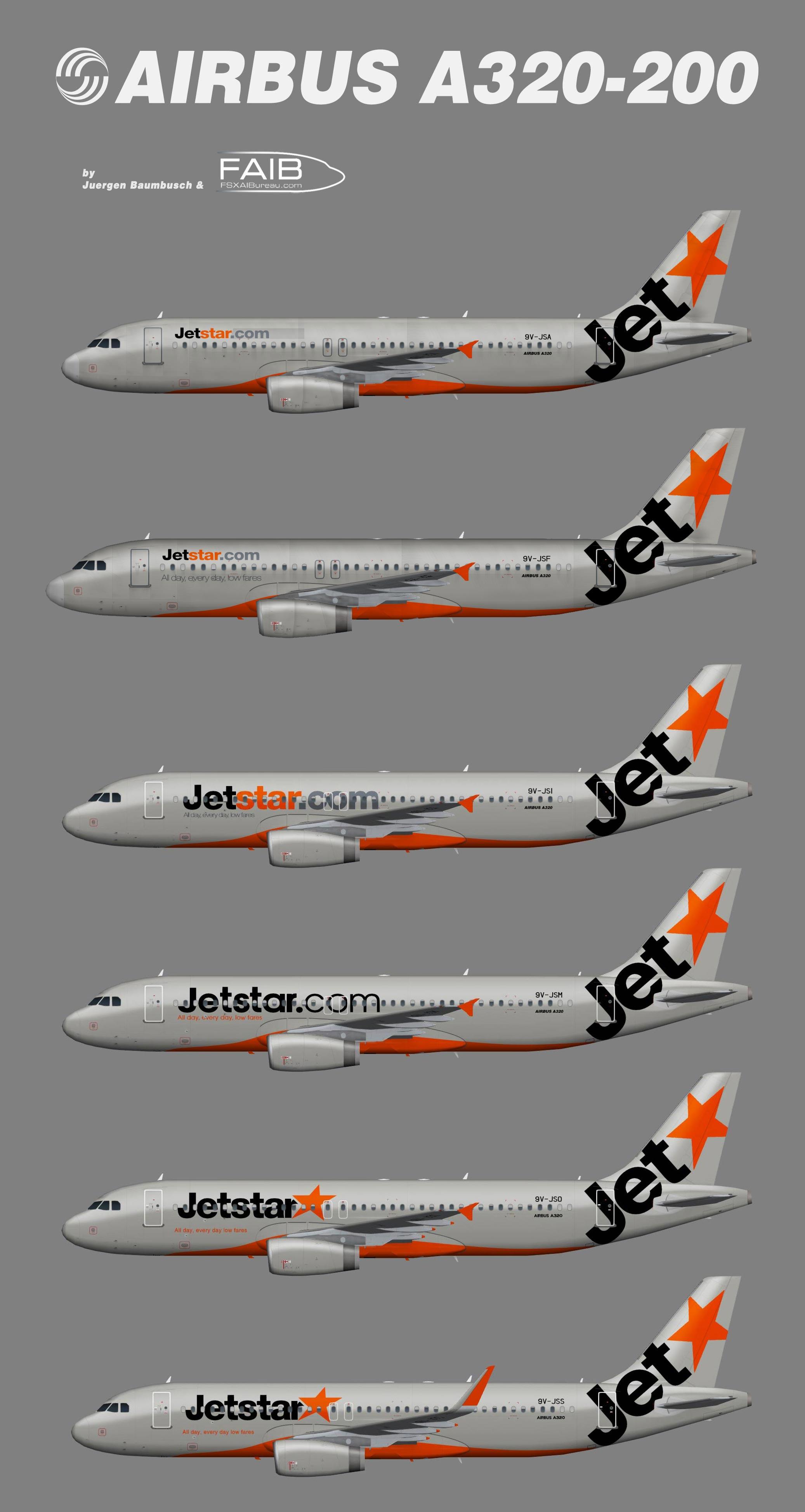 Jetstar Asia Airbus A320 200 Juergen S Paint Hangar
