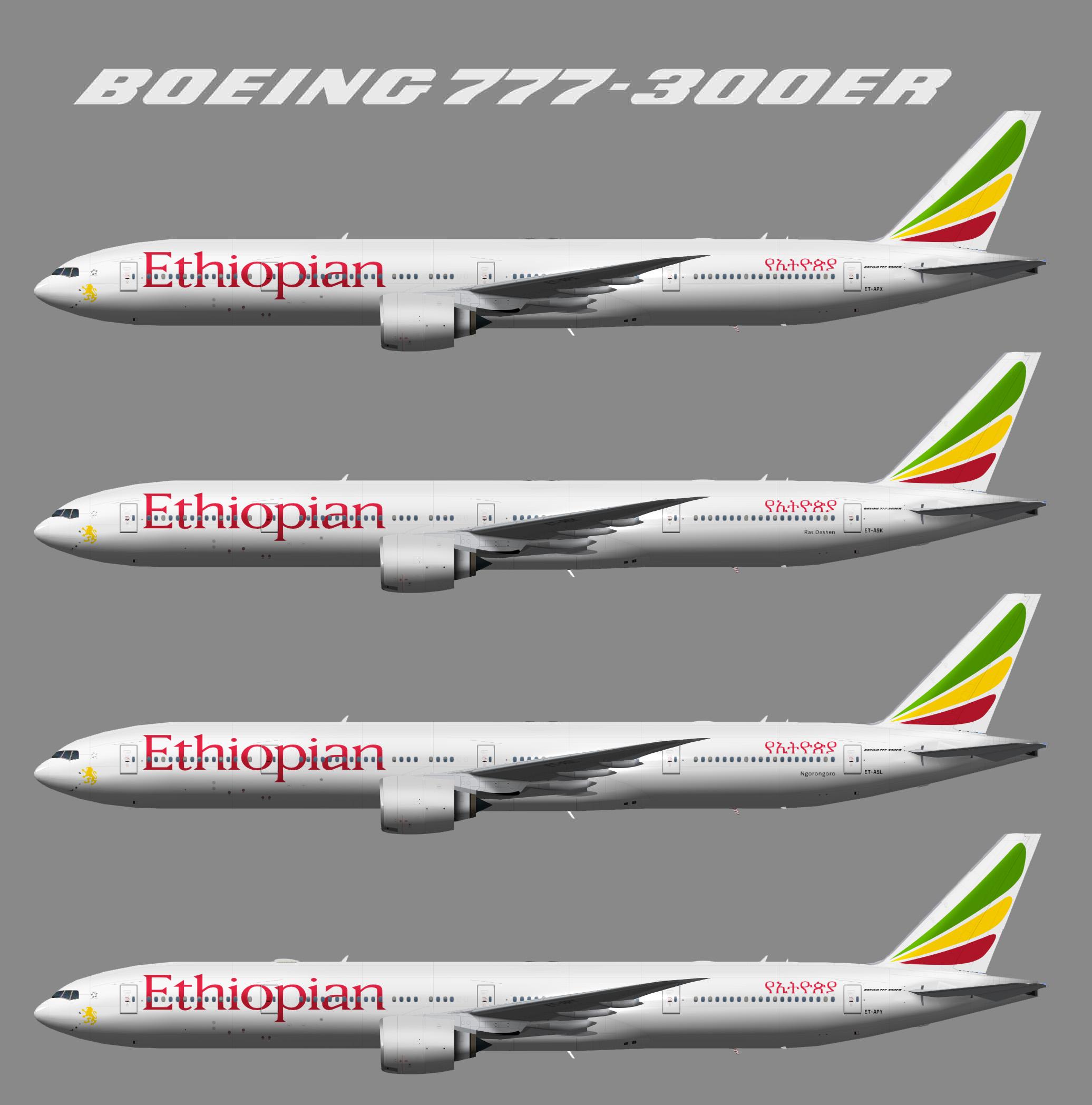 TFS Ethiopian Airlines Boeing 777-300ER
