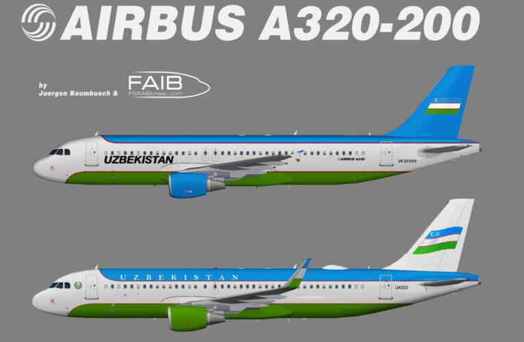 Uzbekistan Government Airbus A320-200 (opb Uzbekistan Airways)