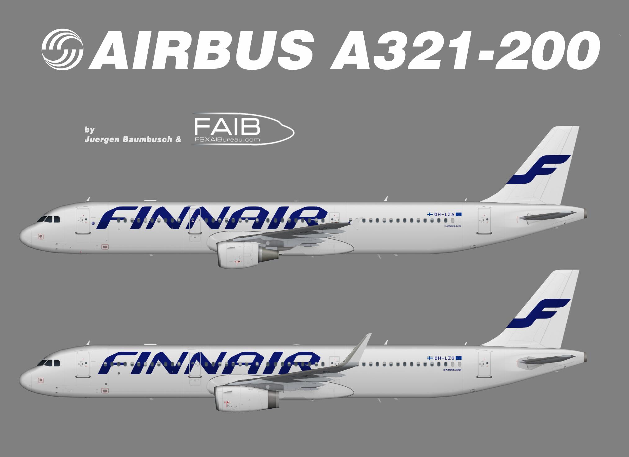 Finnair Airbus A321-100 – Juergen's paint hangar