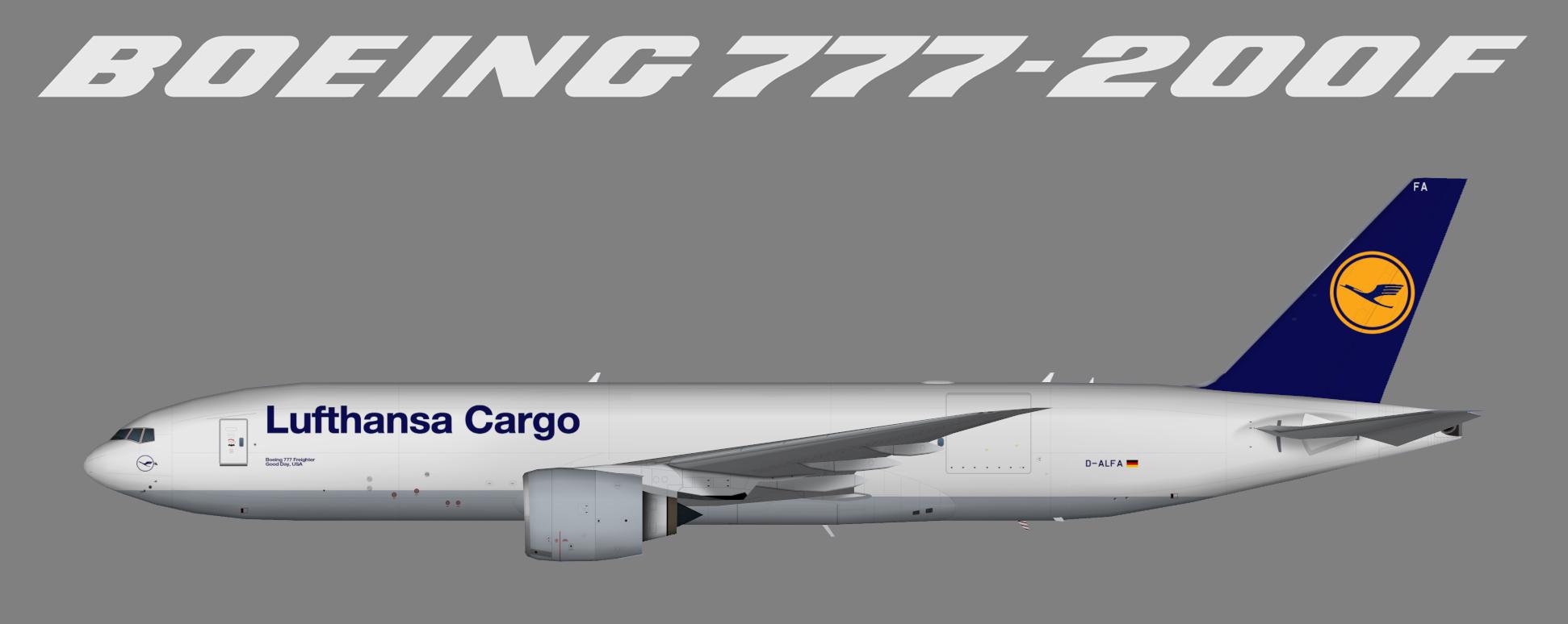 Lufthansa Cargo Boeing 777 200 Freighter Juergen S Paint