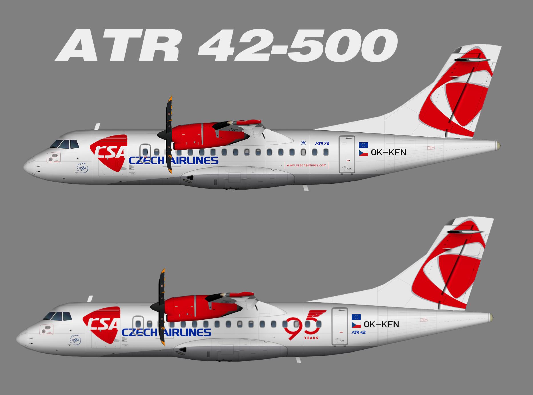 CSA Czech Airlines ATR 42-500