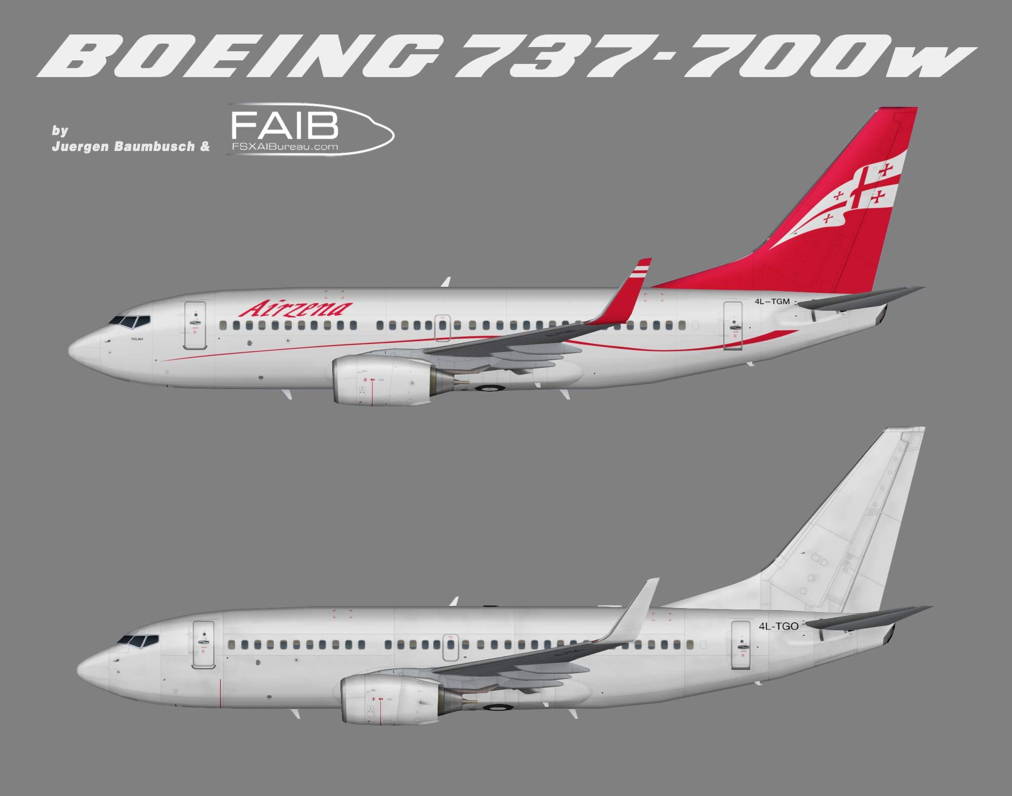 Georgian Airways Boeing 737-700w
