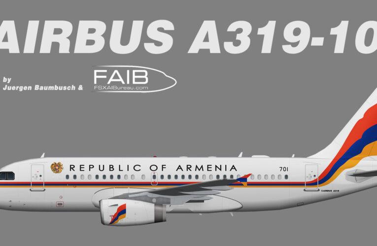 Armenia Government Airbus A319-100CJ