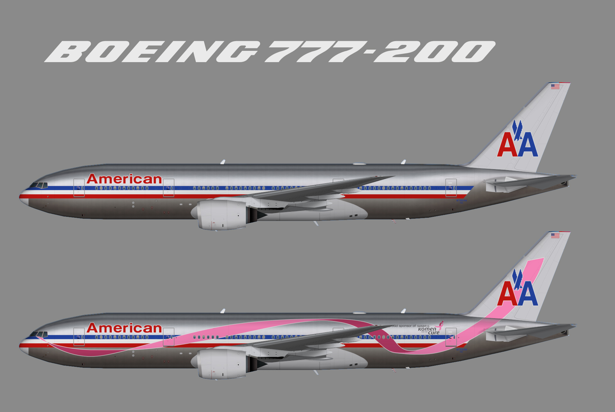 american airlines boeing 777200er old colour � juergens
