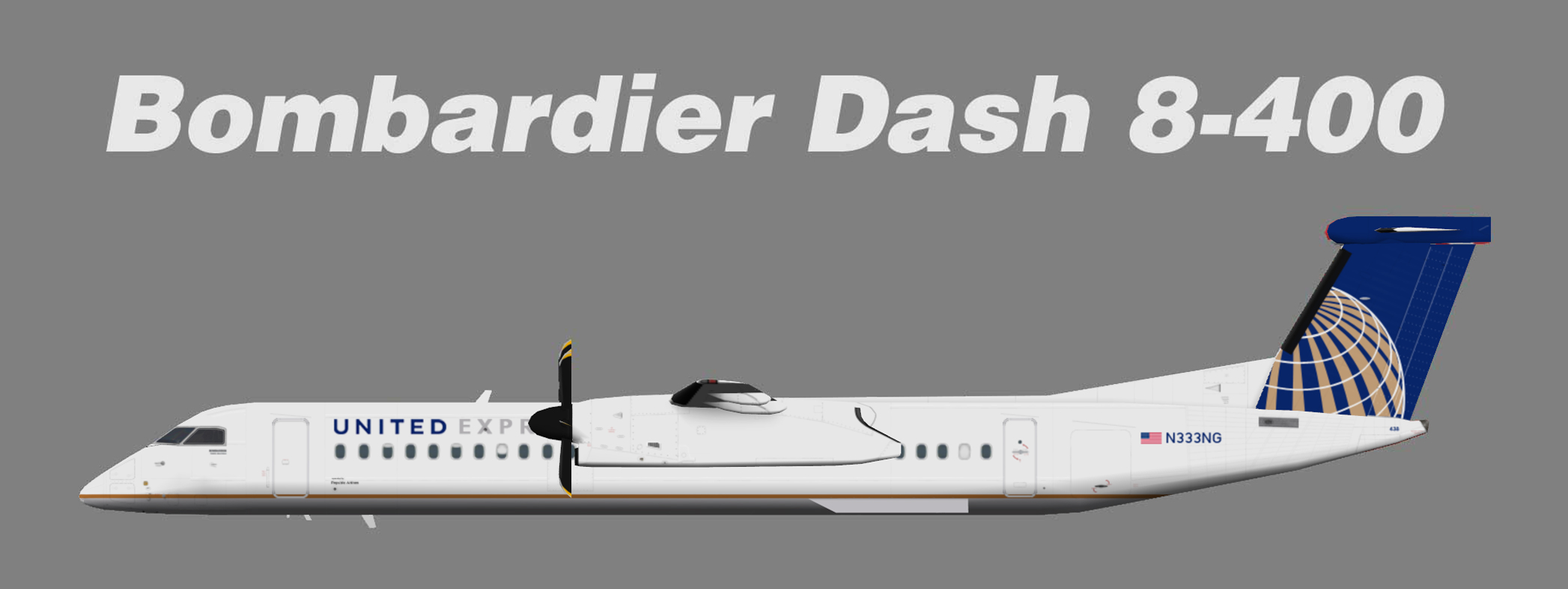 United Airlines Bombardier Dash 8
