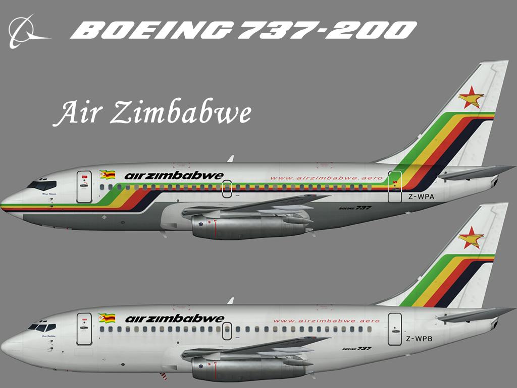 Air Zimbabwe Boeing 737-200 – Nils