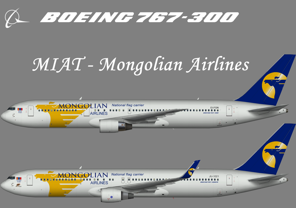 MIAT Mongolian Airlines Boeing 767-300 – AIA – Nils