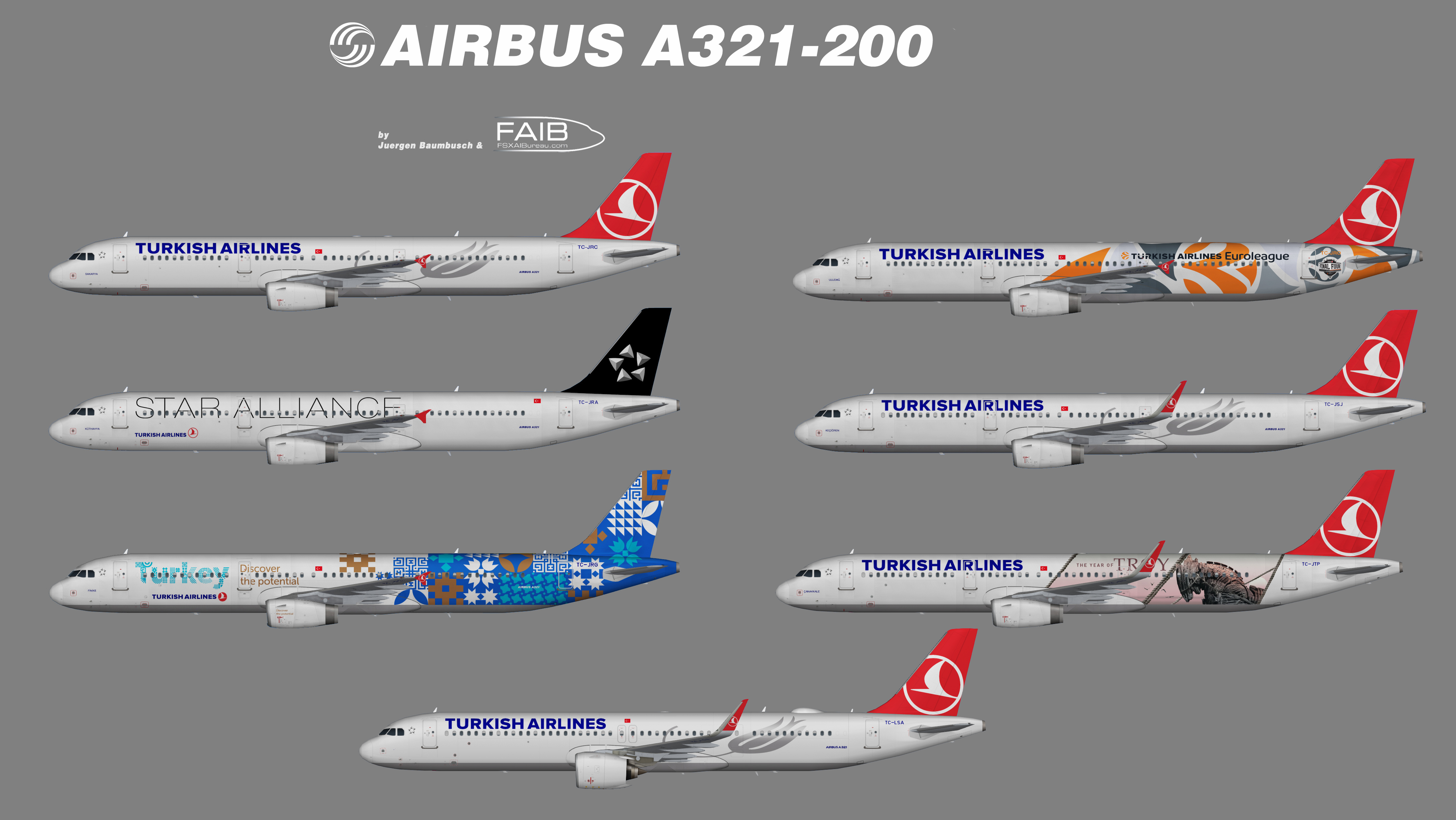 Turkish Airlines Airbus A321 200s Bvb For Fsx - Www imagez co