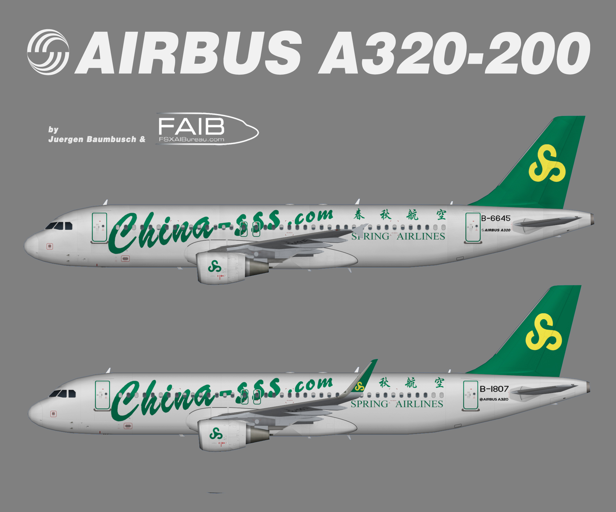 Spring Airlines Airbus A320 200 Juergen S Paint Hangar