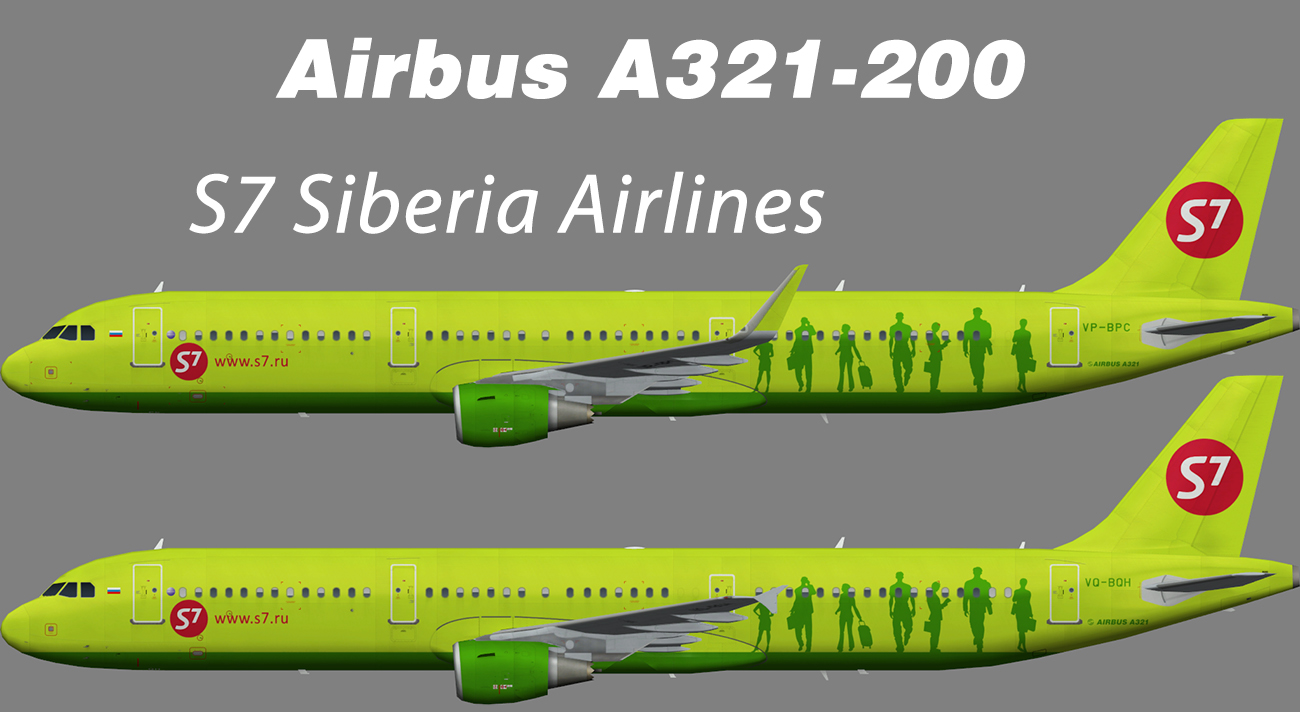 S7 Siberia Airlines Airbus A321-200 – Nils