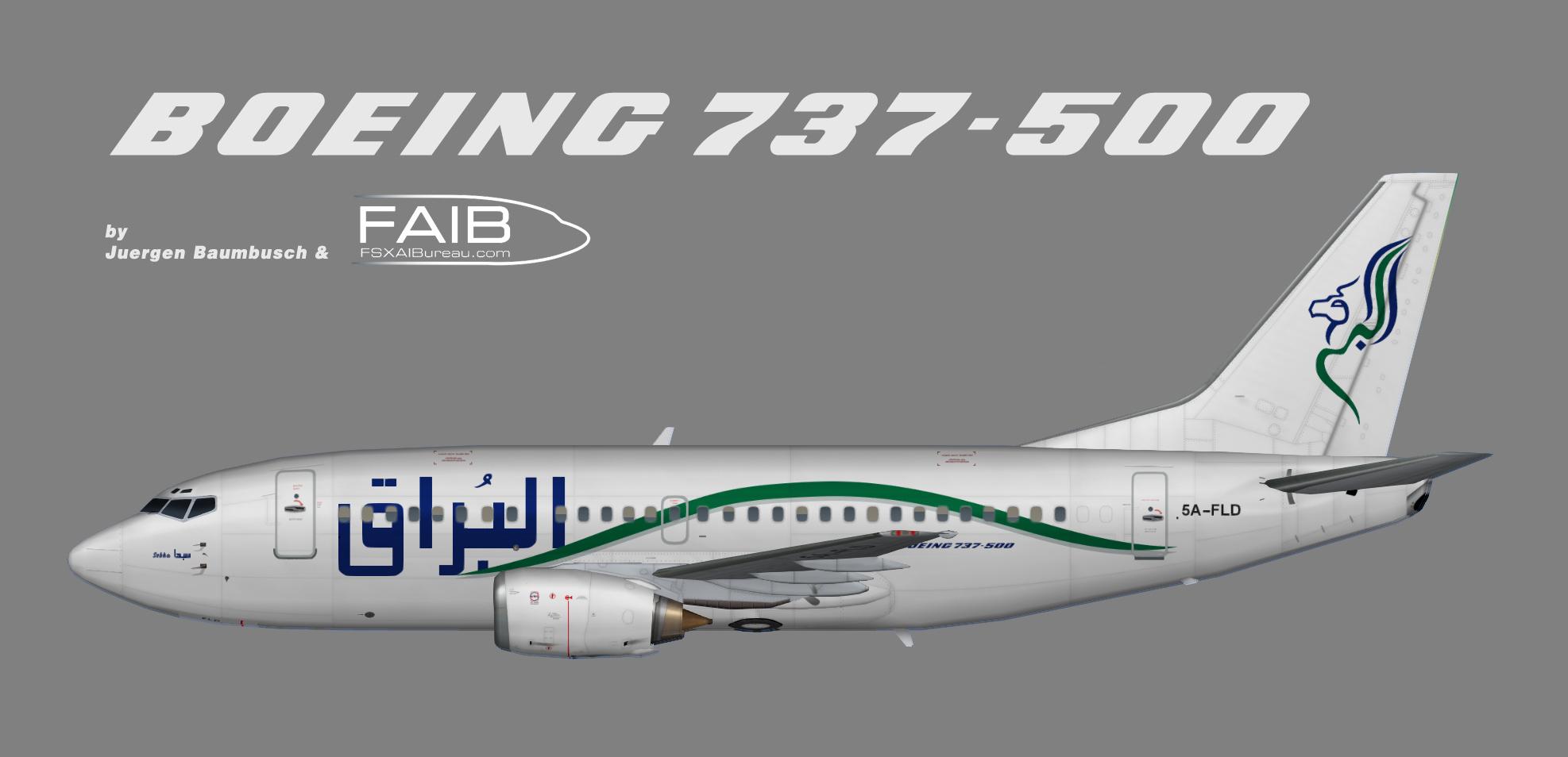 Buraq Air Boeing 737-500
