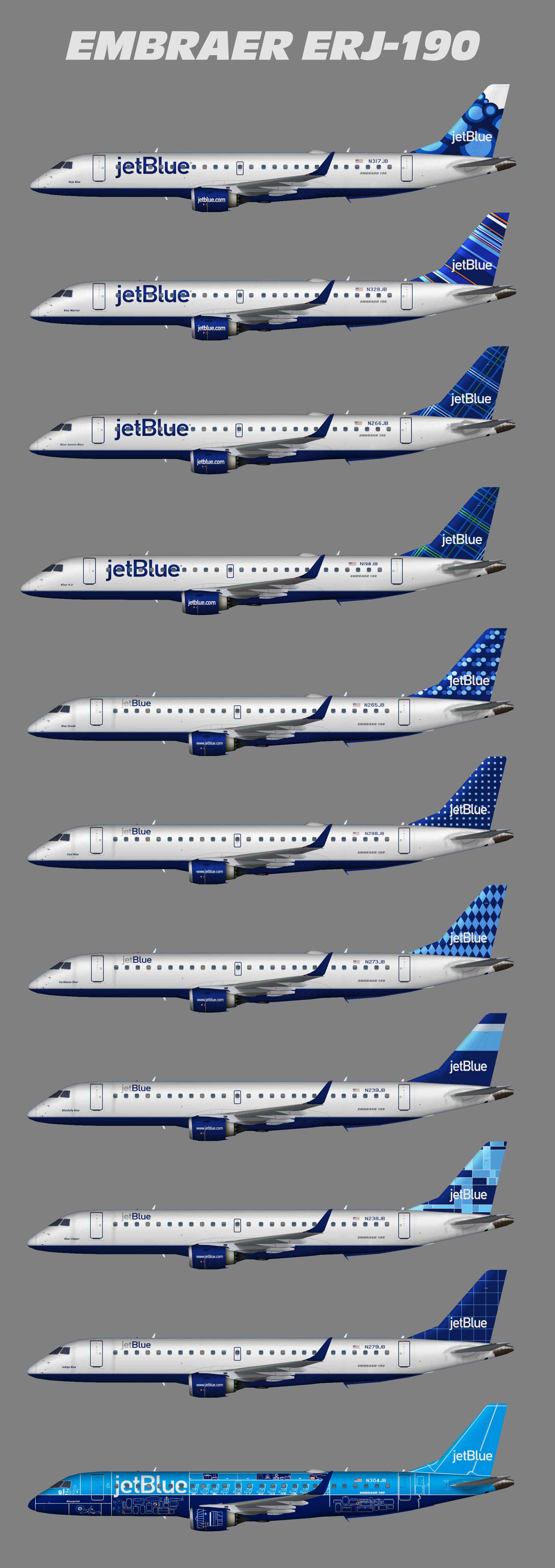 JetBlue Embraer ERJ-190-100