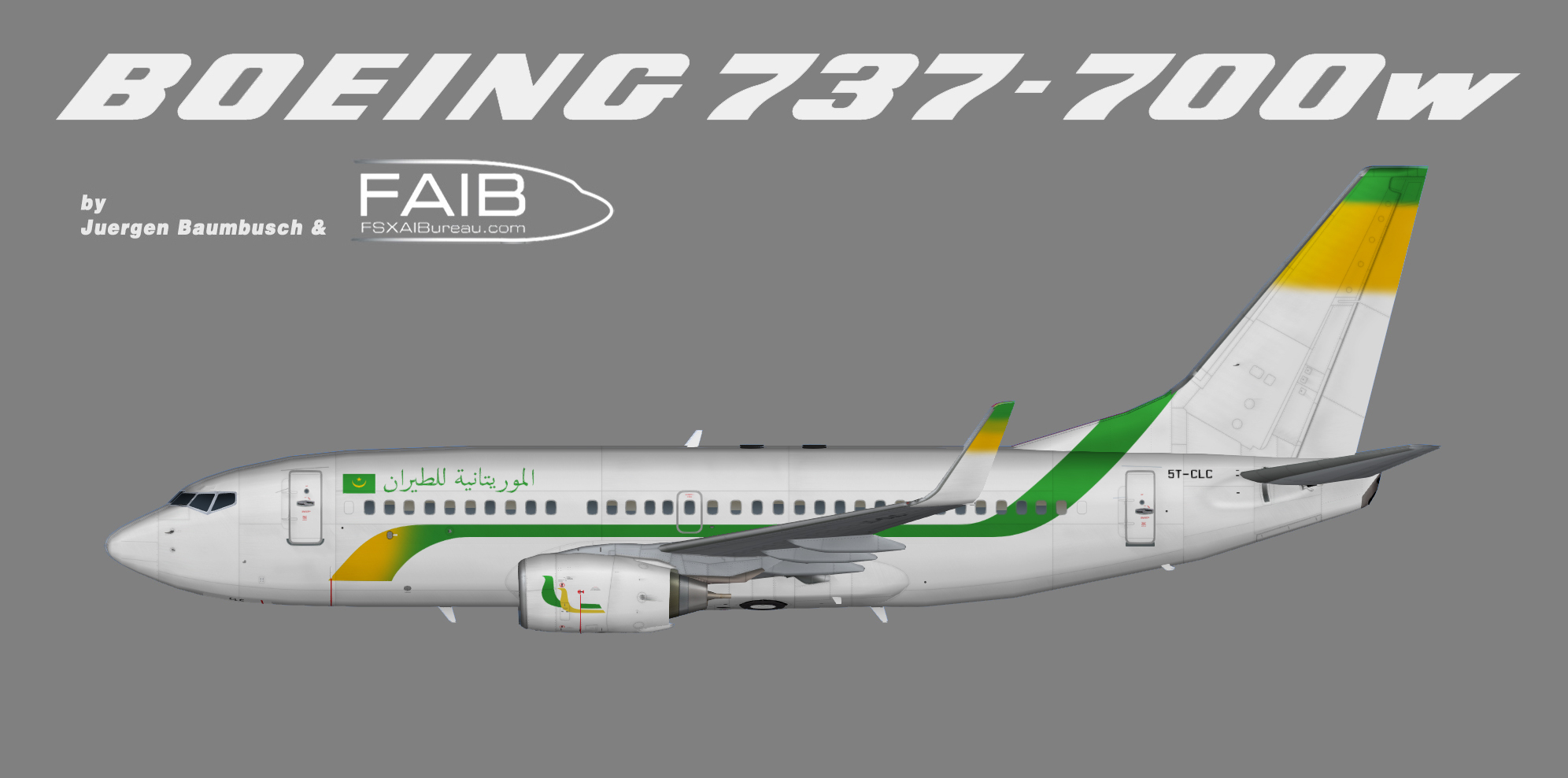 Mauritania Airlines Boeing 737-700w