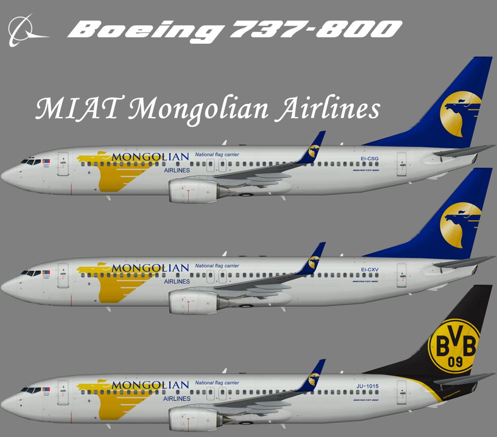 MIAT Mongolian Airlines Boeing 737-800 Winglets – Nils