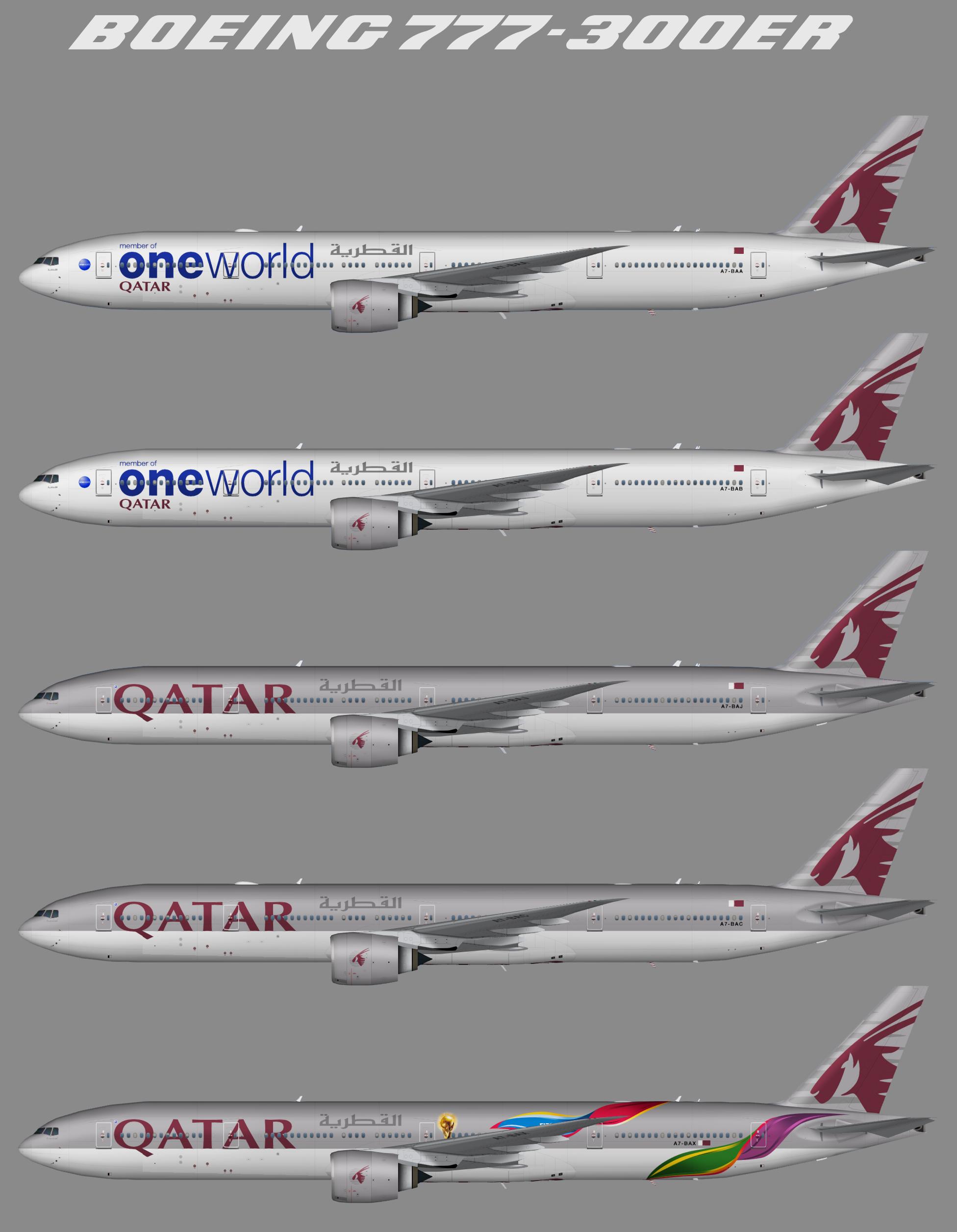 Qatar Airways Boeing 777-300ER – Juergen's paint hangar