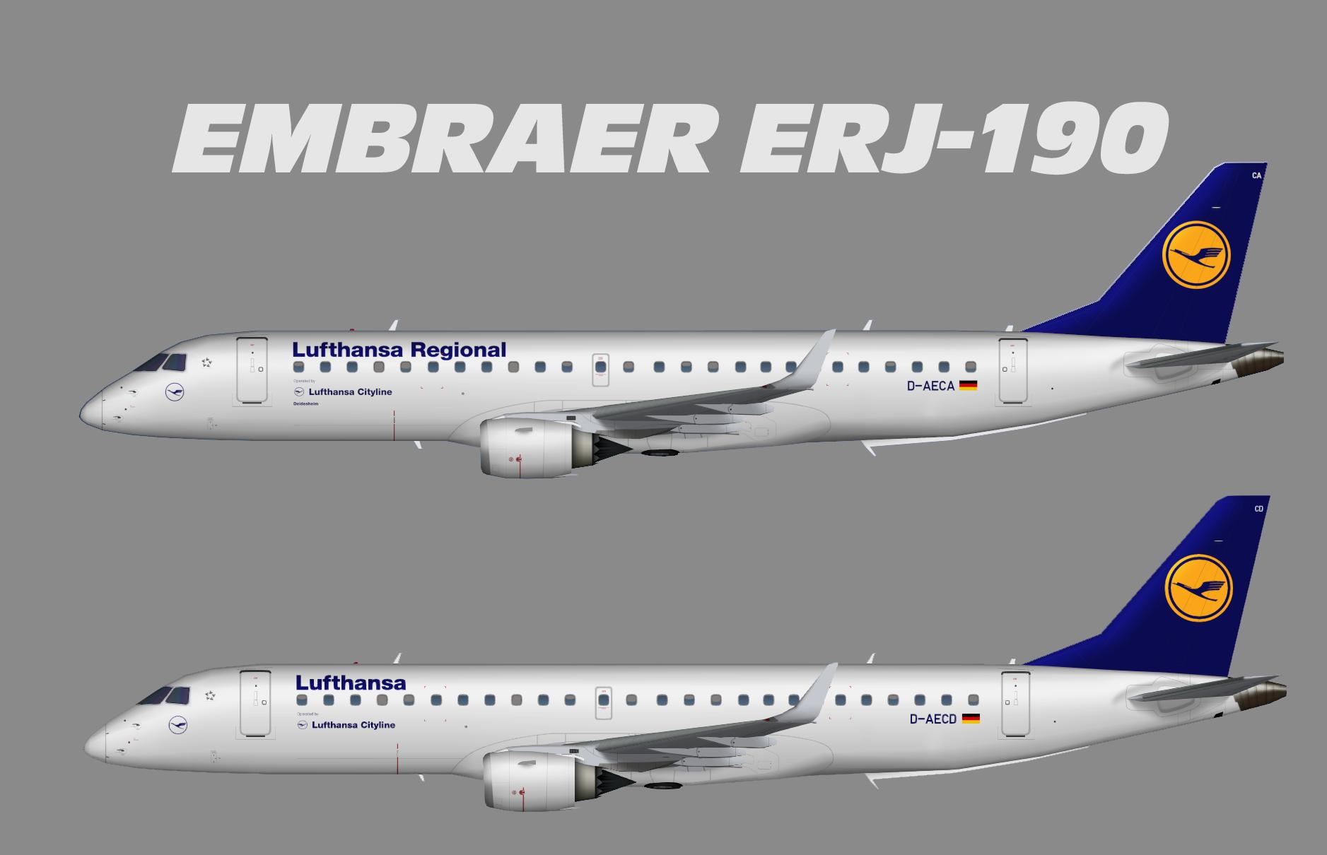 Lufthansa Regional Embraer ERJ-190