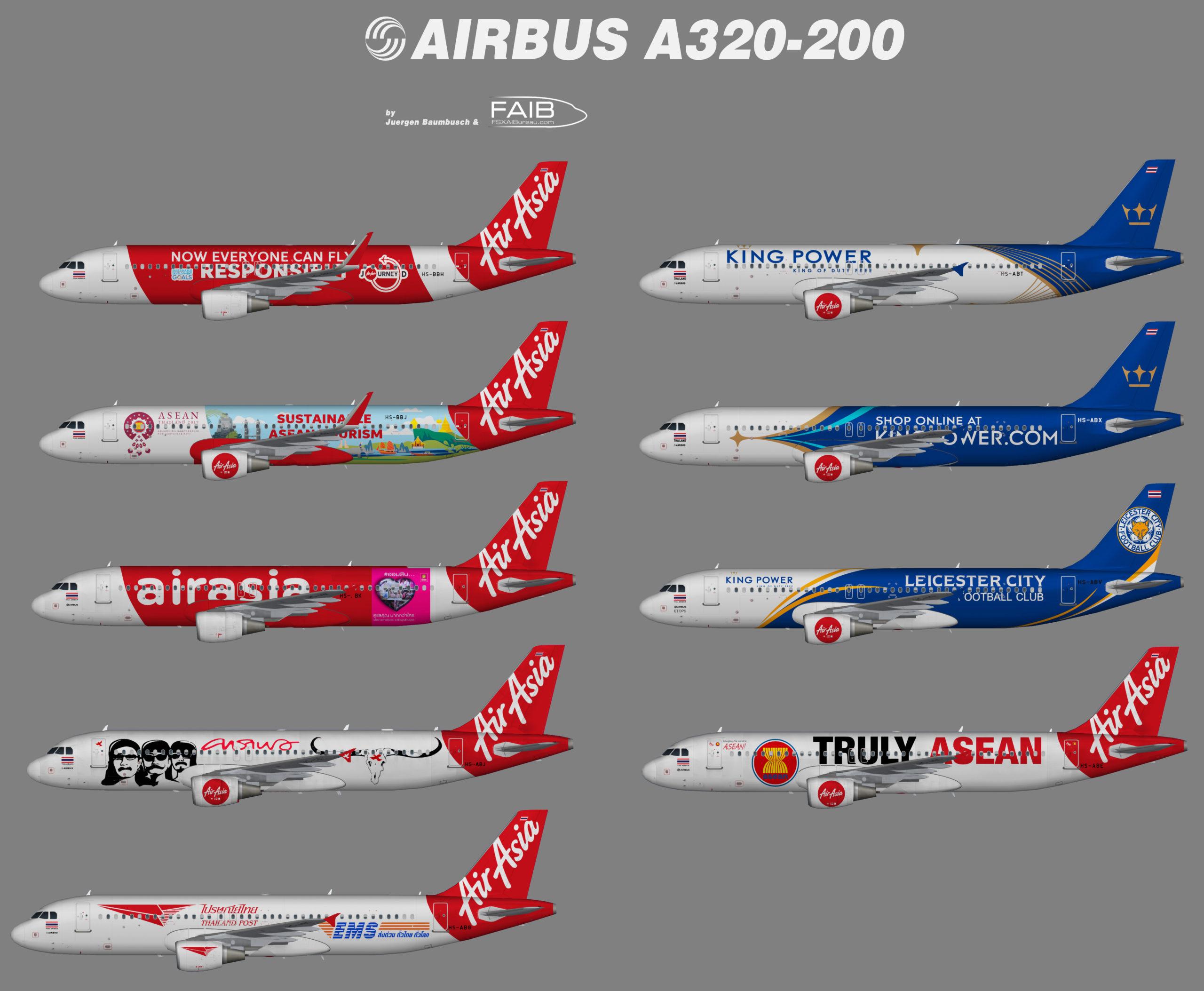 Thai AirAsia Airbus A320-200 Specials