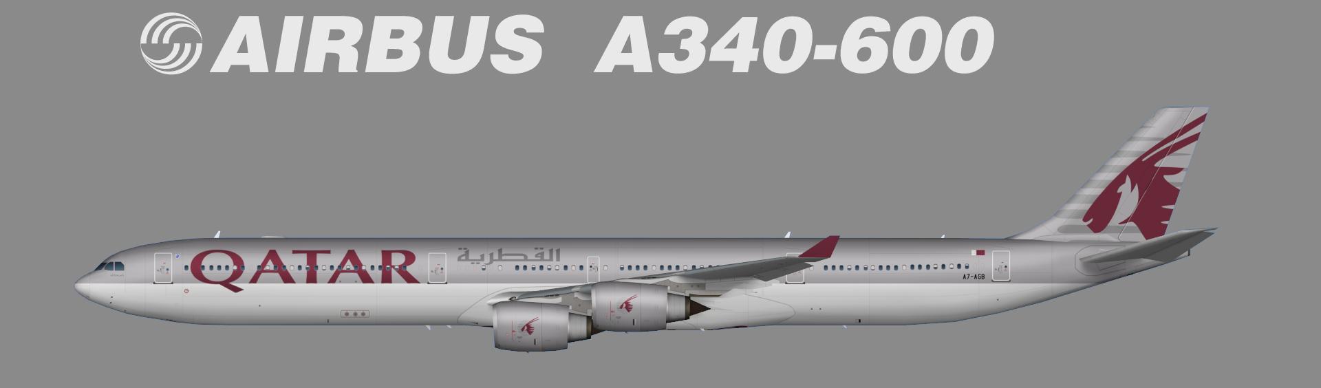 Airbus A340 600 Qatar Airways Juergen S Paint Hangar