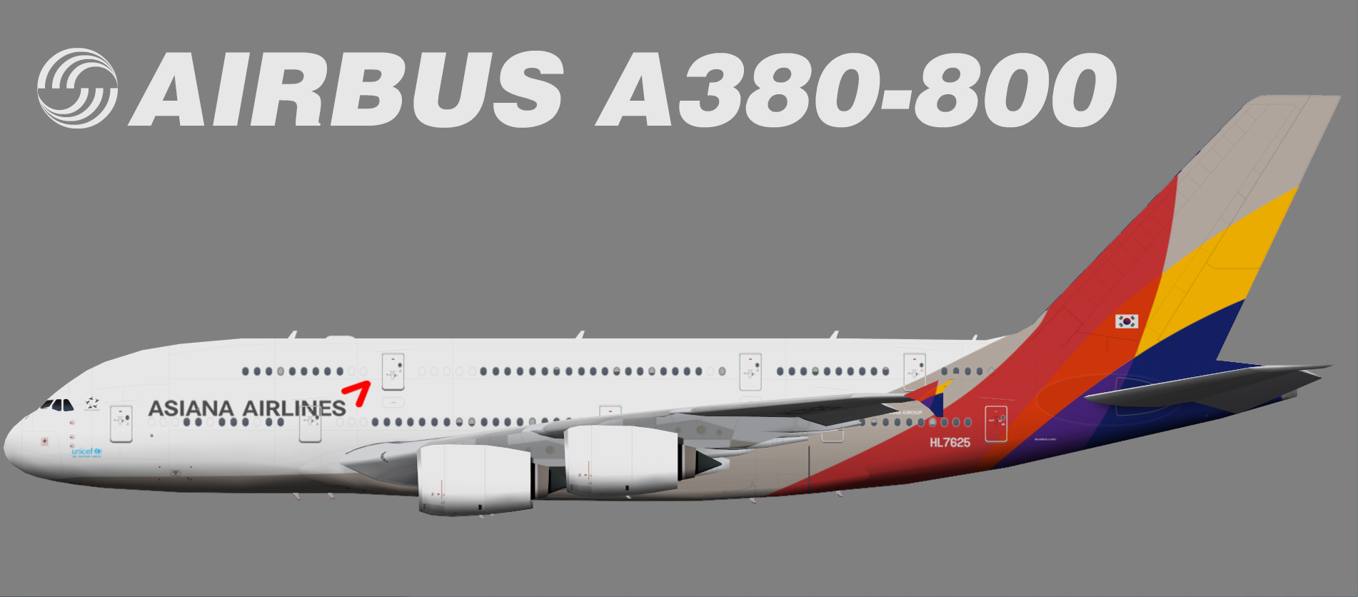 Asiana Airbus A380-800 – Juergen's paint hangar