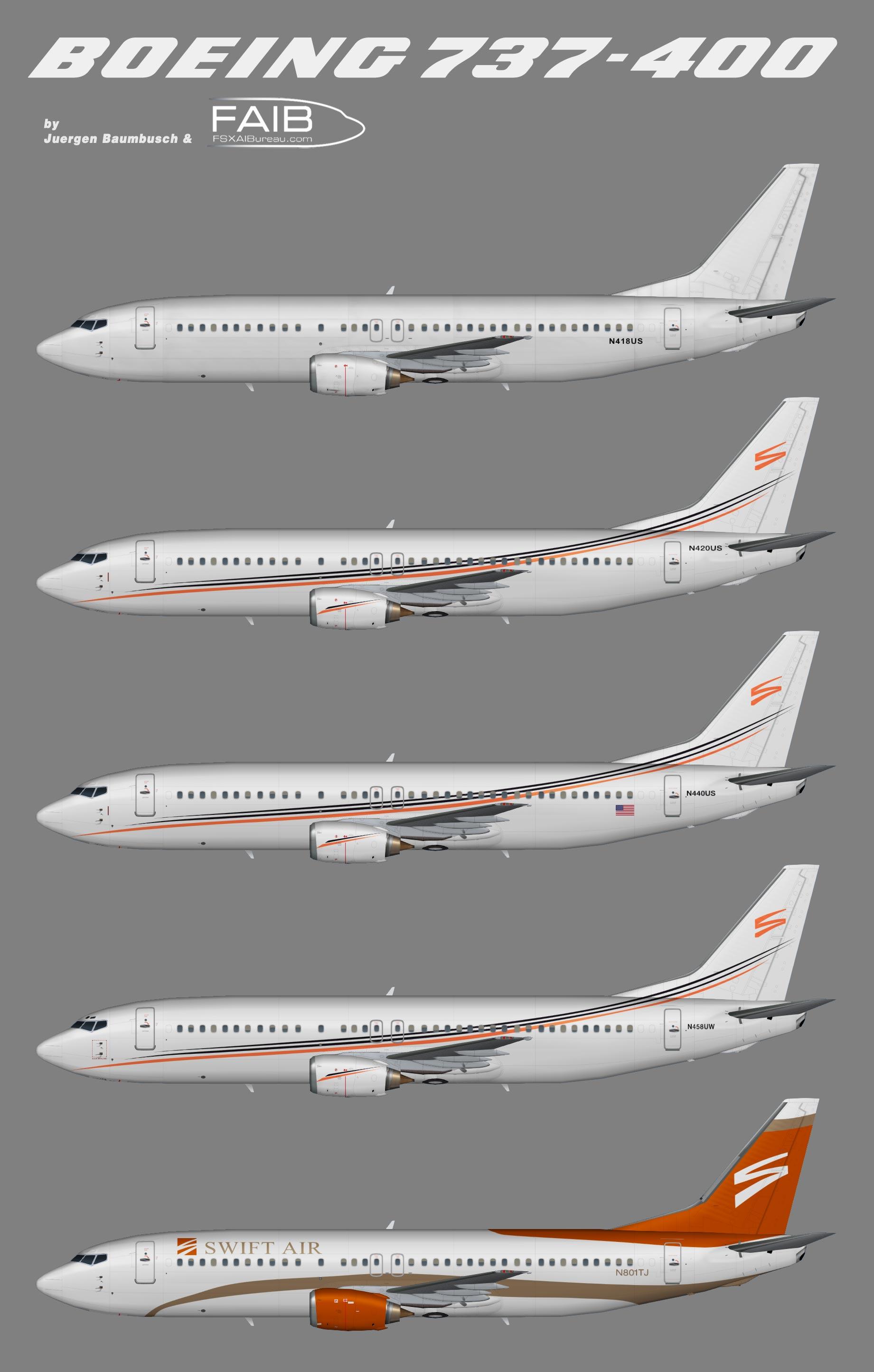 Swift Air LLC Boeing 737-400 Fleet
