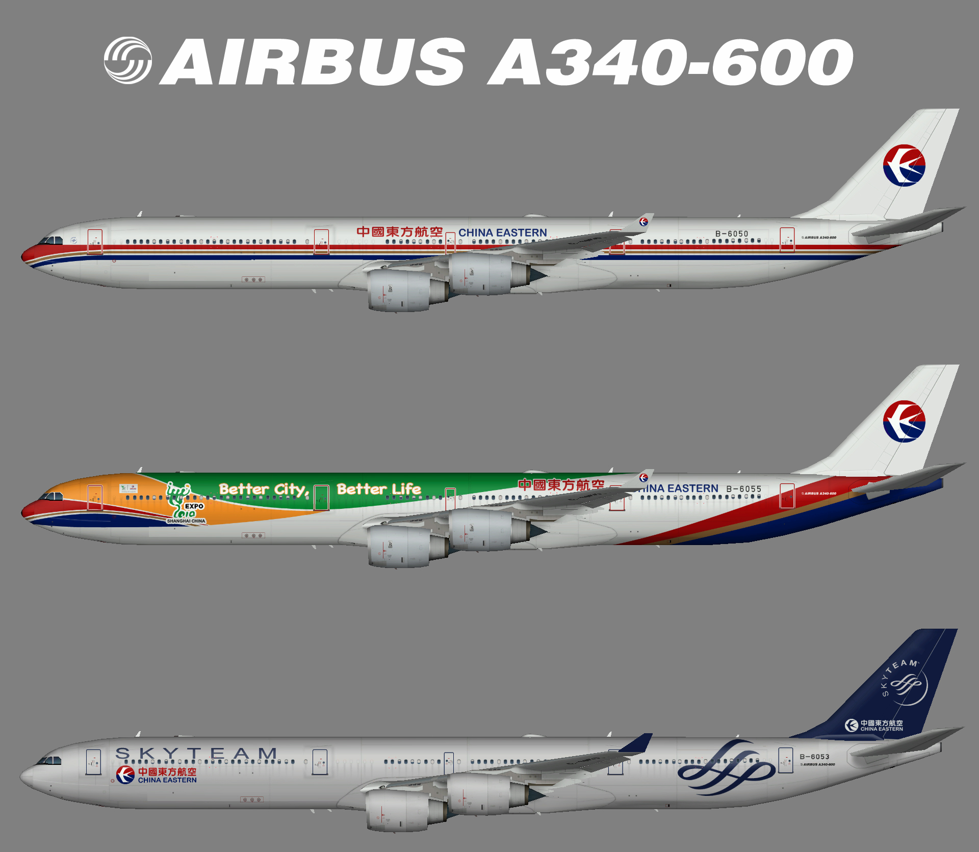 China Eastern A340-600