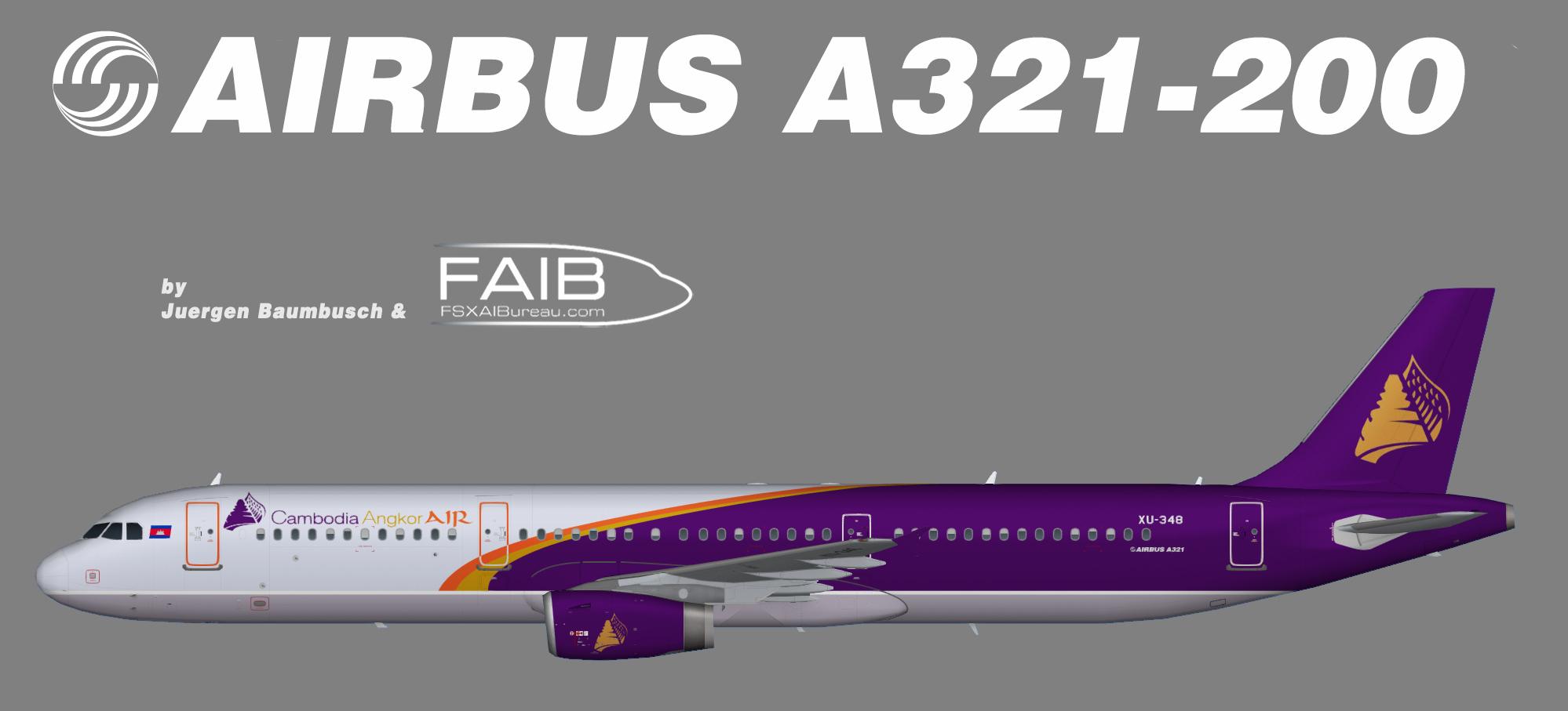 Cambodia Ankor Air Airbus A321