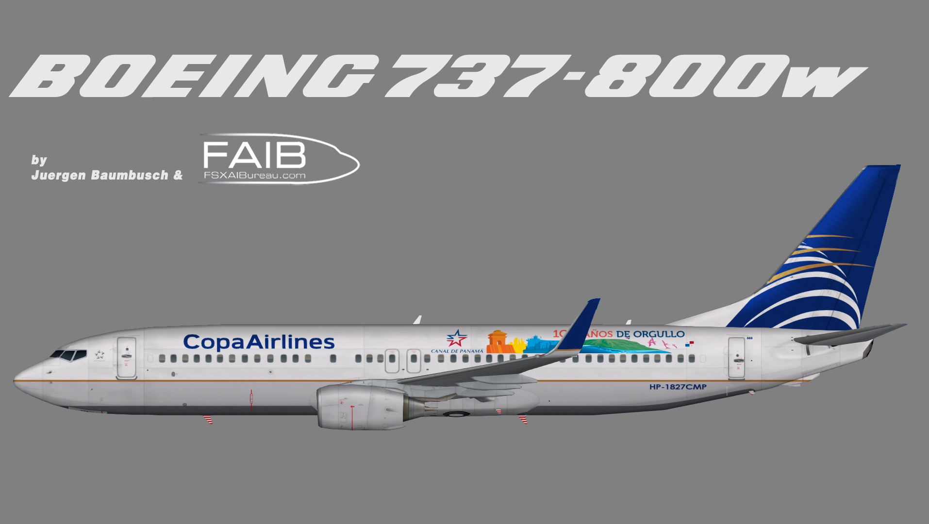 Copa Airlines Boeing 737 800w 100 Anos 100 Years Panama